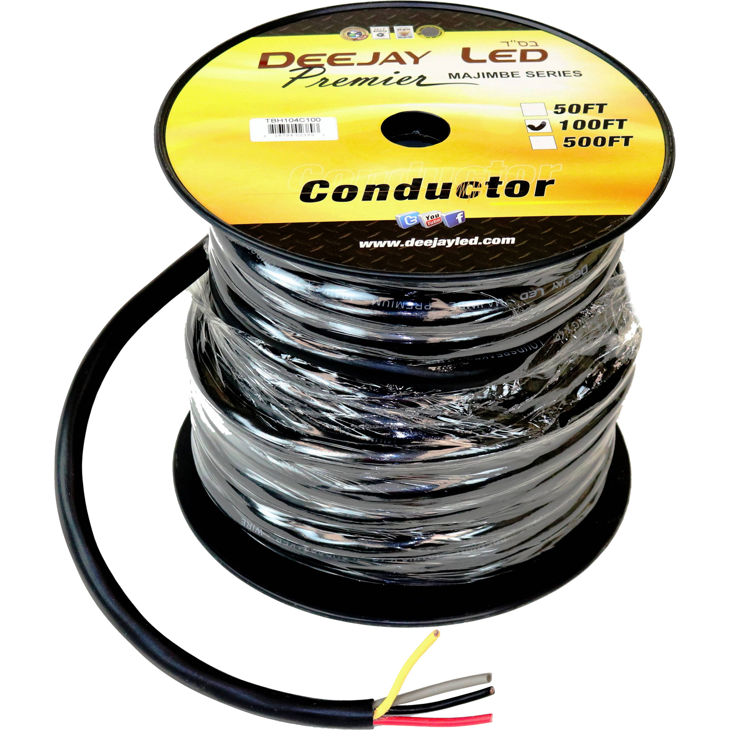 10 AWG 4-Conductor Cable (100\')