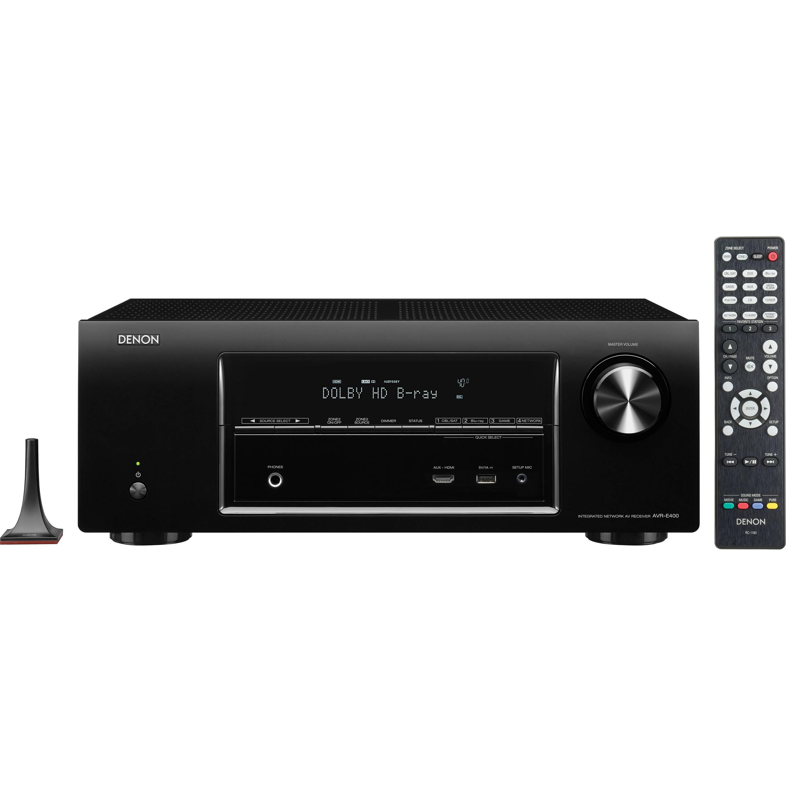 denon avr e400 7 1 channel network home theater receiver. Black Bedroom Furniture Sets. Home Design Ideas
