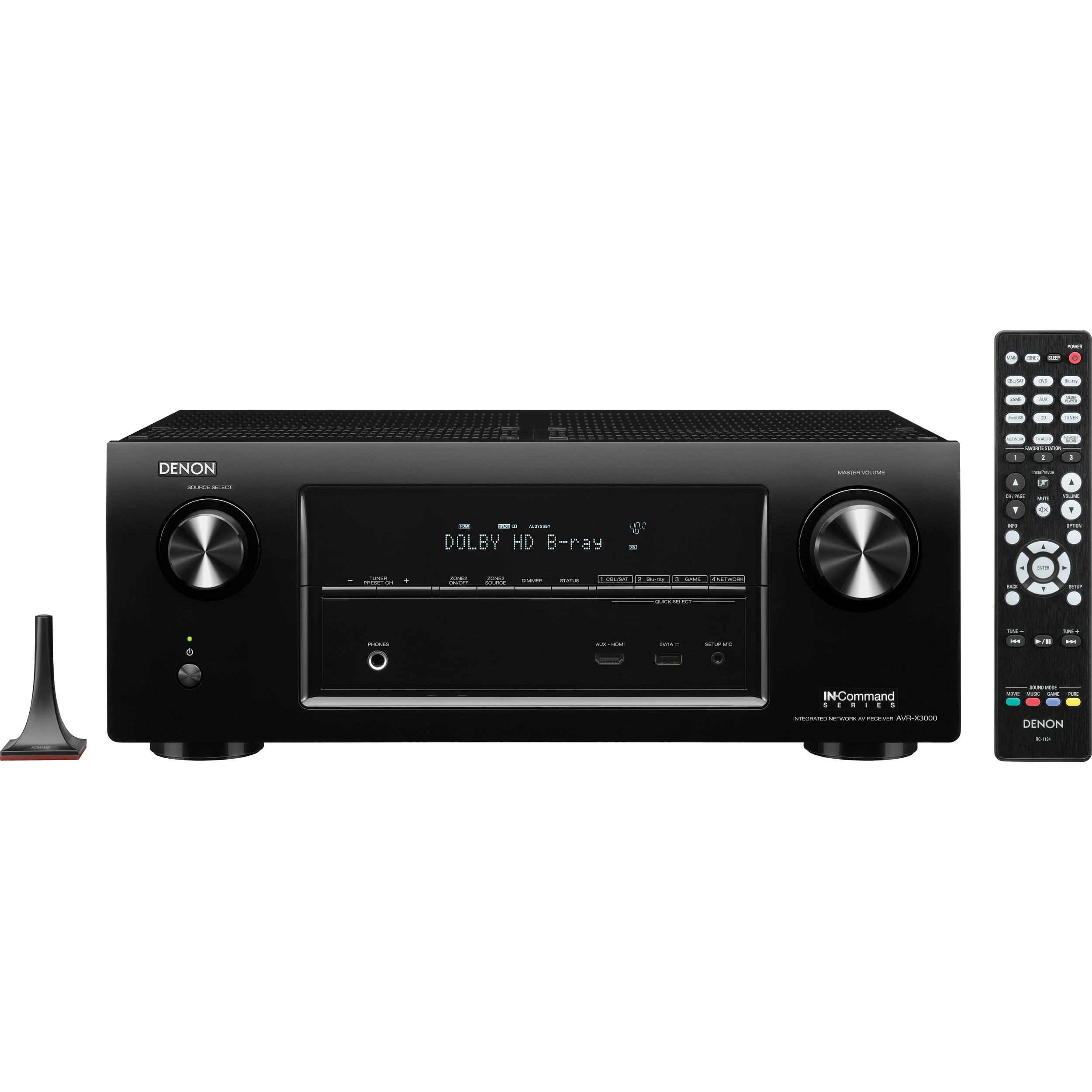 Denon AVR-X3000 IN-Command Series 7.2-Channel Integrated Network A/V