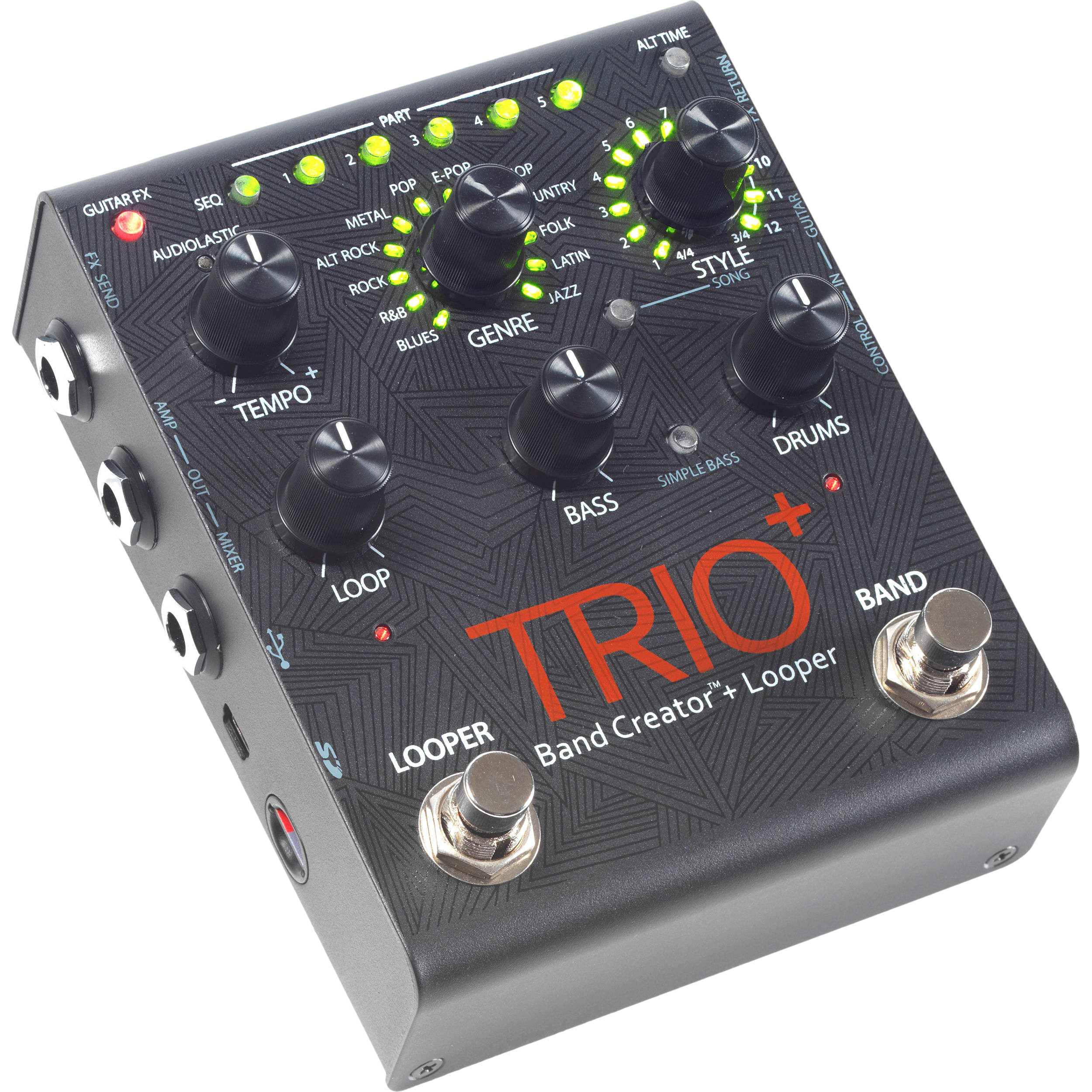 digitech trio band creator pedal with built in. Black Bedroom Furniture Sets. Home Design Ideas