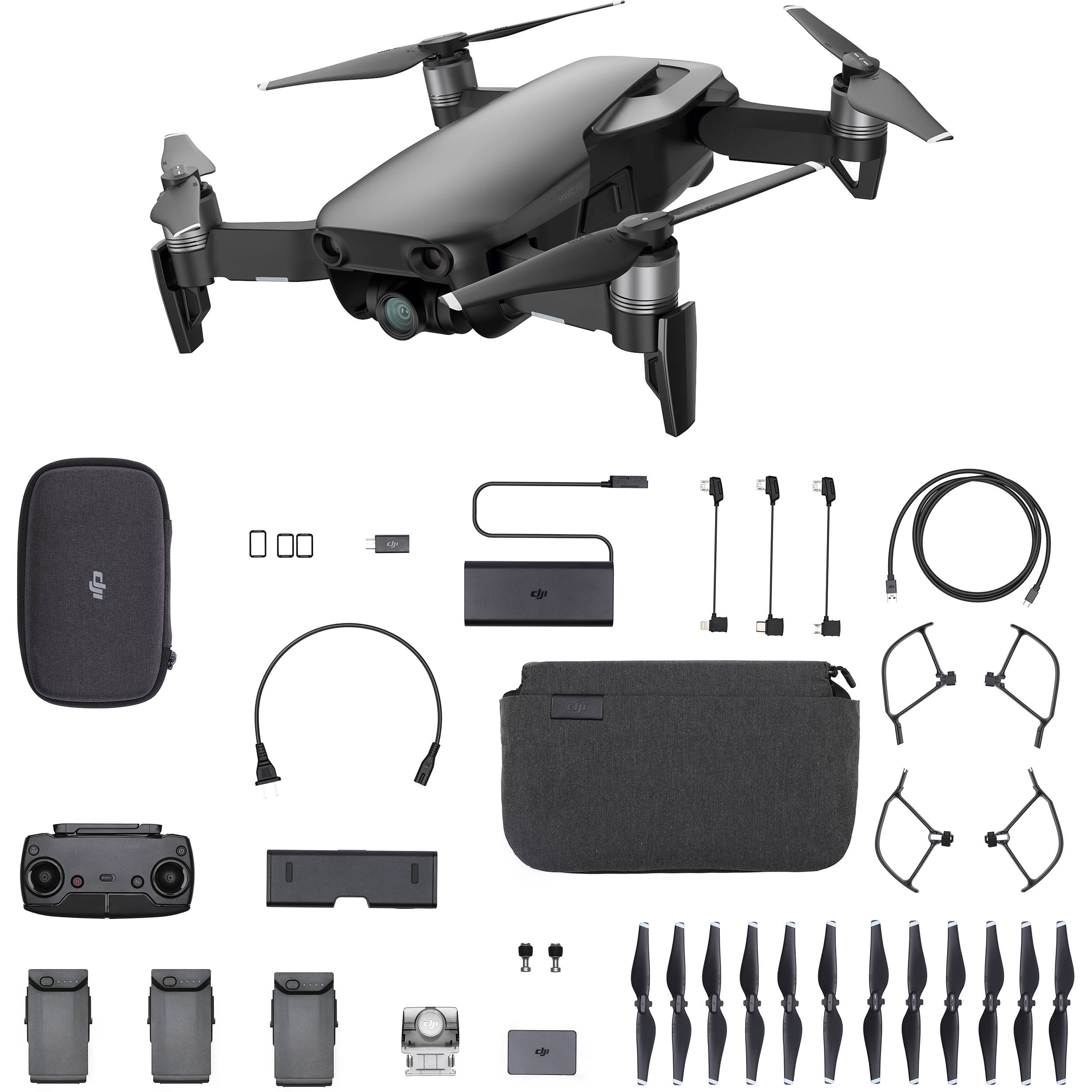 6f88269e45b DJI Mavic Air Fly More Combo (Onyx Black) CP.PT.00000156.02 B&H