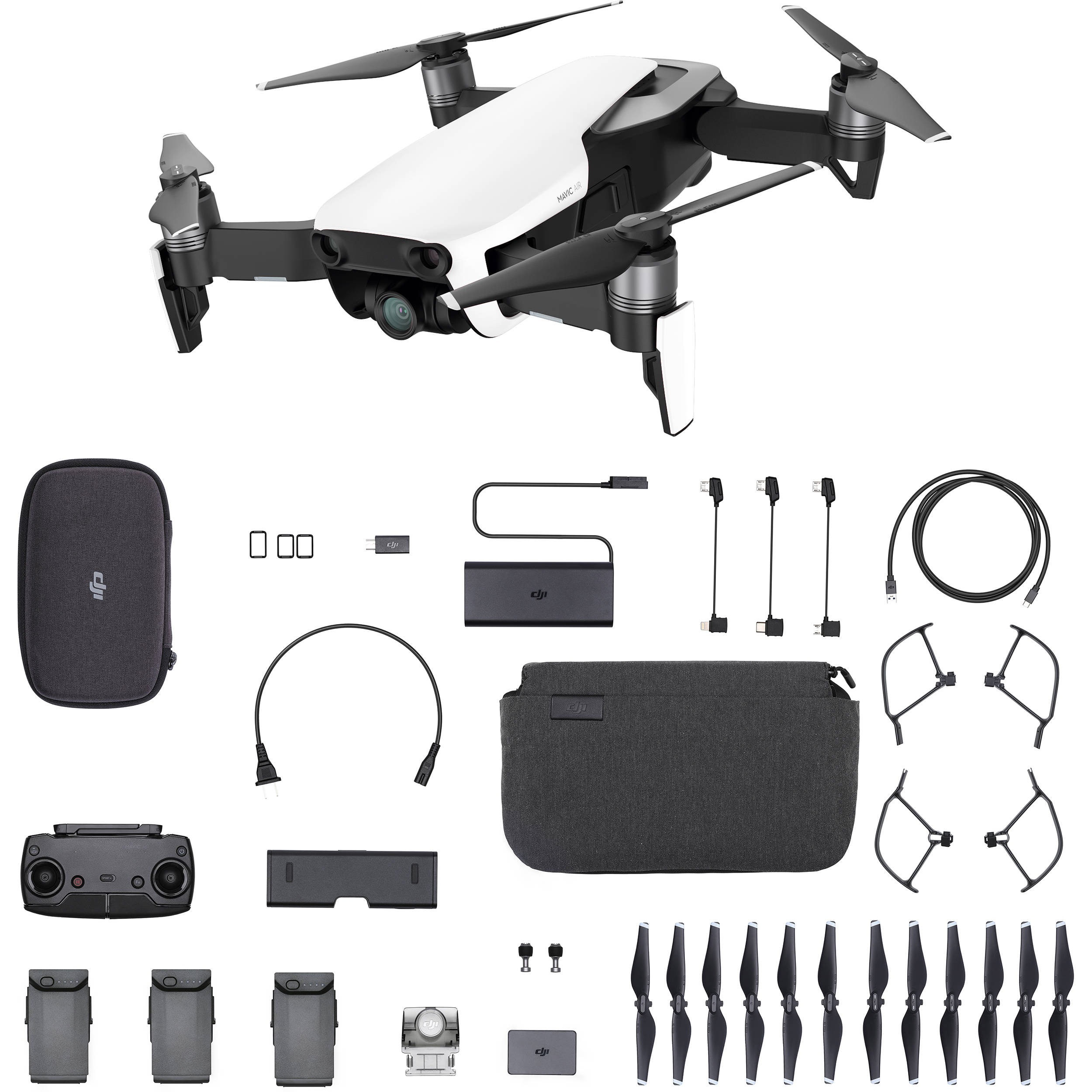 d87cf4cb031 DJI Mavic Air Fly More Combo (Arctic White) CP.PT.00000165.01