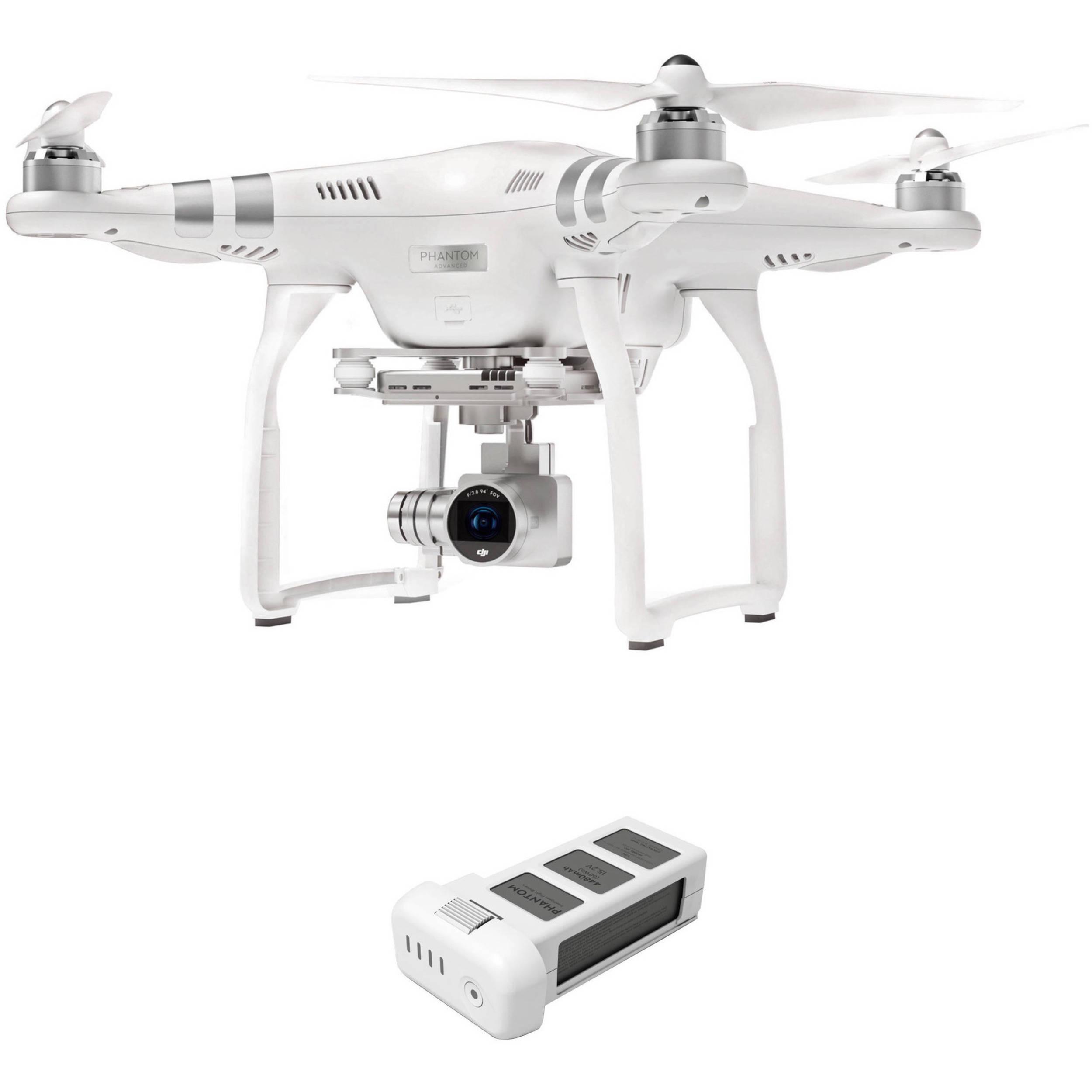 DJI Phantom 3 Advanced With 27K Camera And Battery Bundle