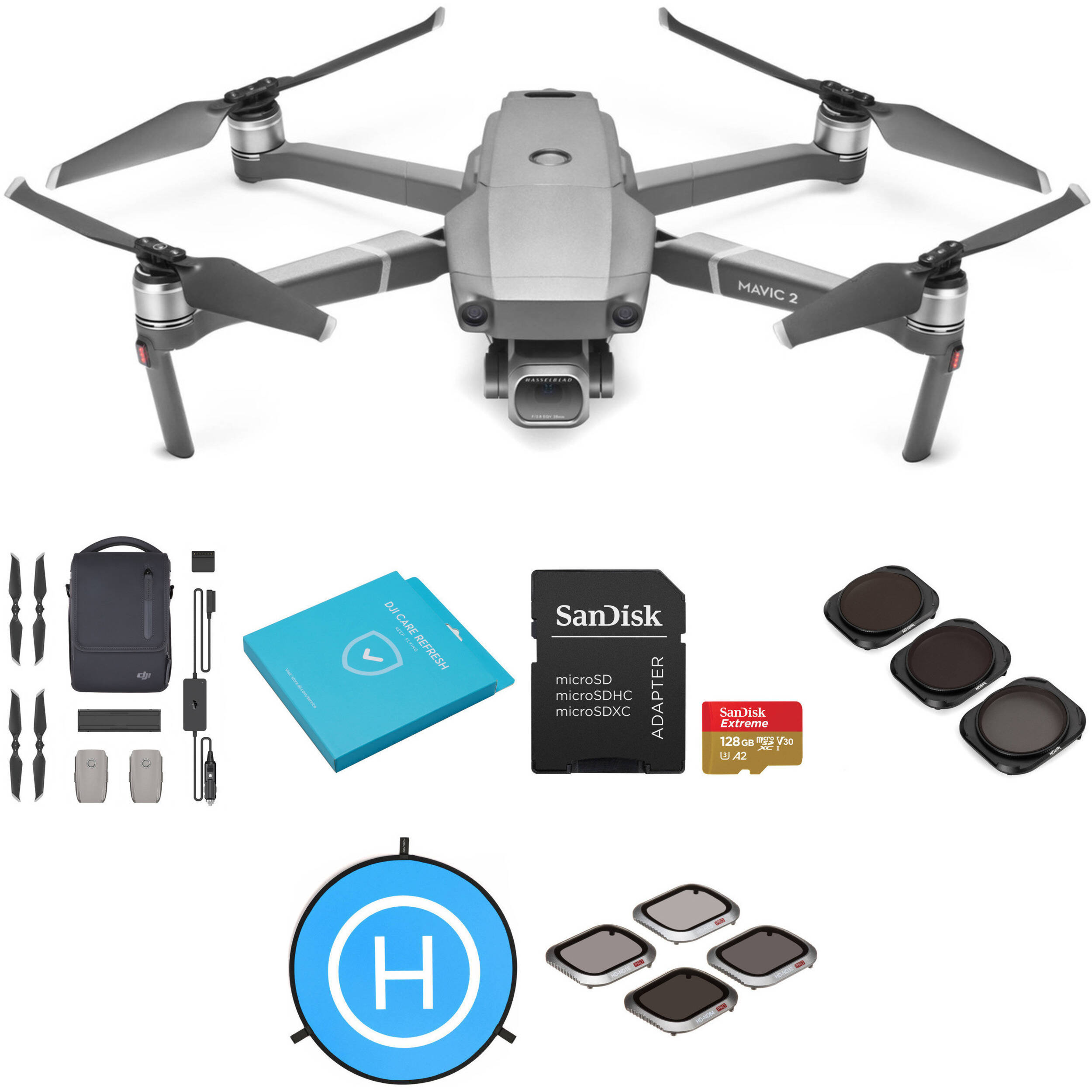 1380e97f6aa DJI Mavic 2 Pro with Fly More Combo and Care Refresh Kit B&H