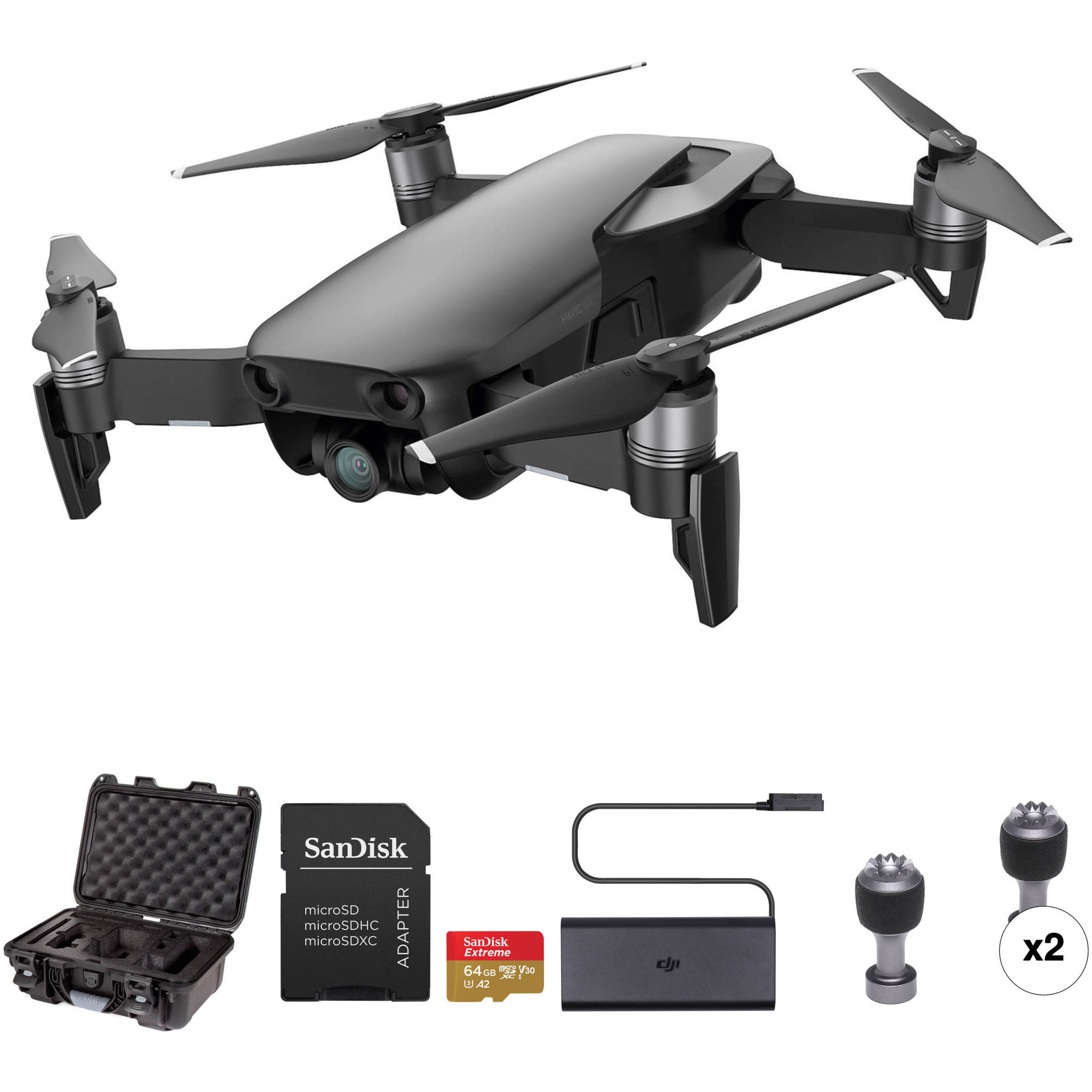 7d3de978821 DJI Mavic Air Drone with Hard Case and 64GB Card Kit (Onyx Black)
