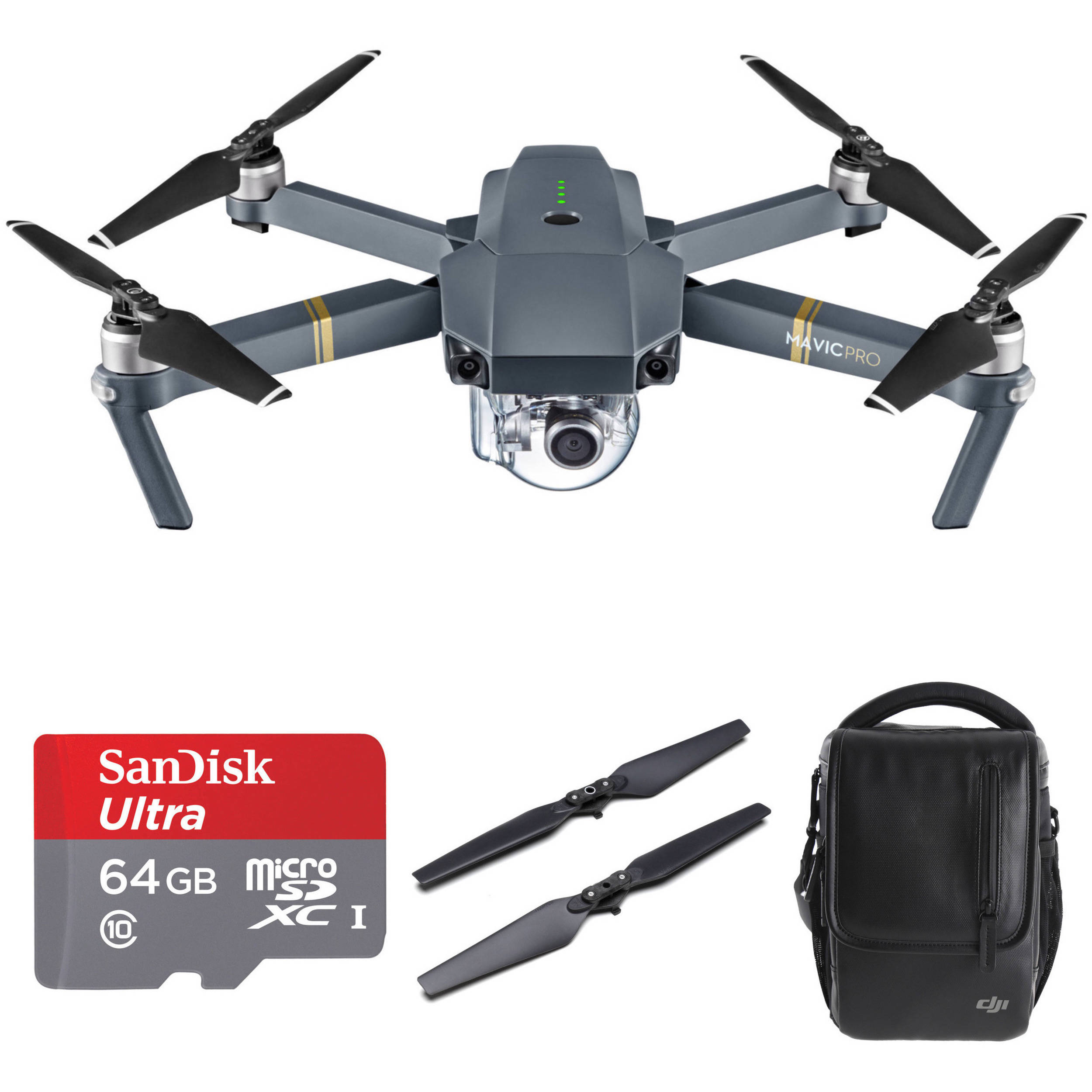 551d632025 DJI Mavic Pro Bundle with Backpack and Accessories B H Photo