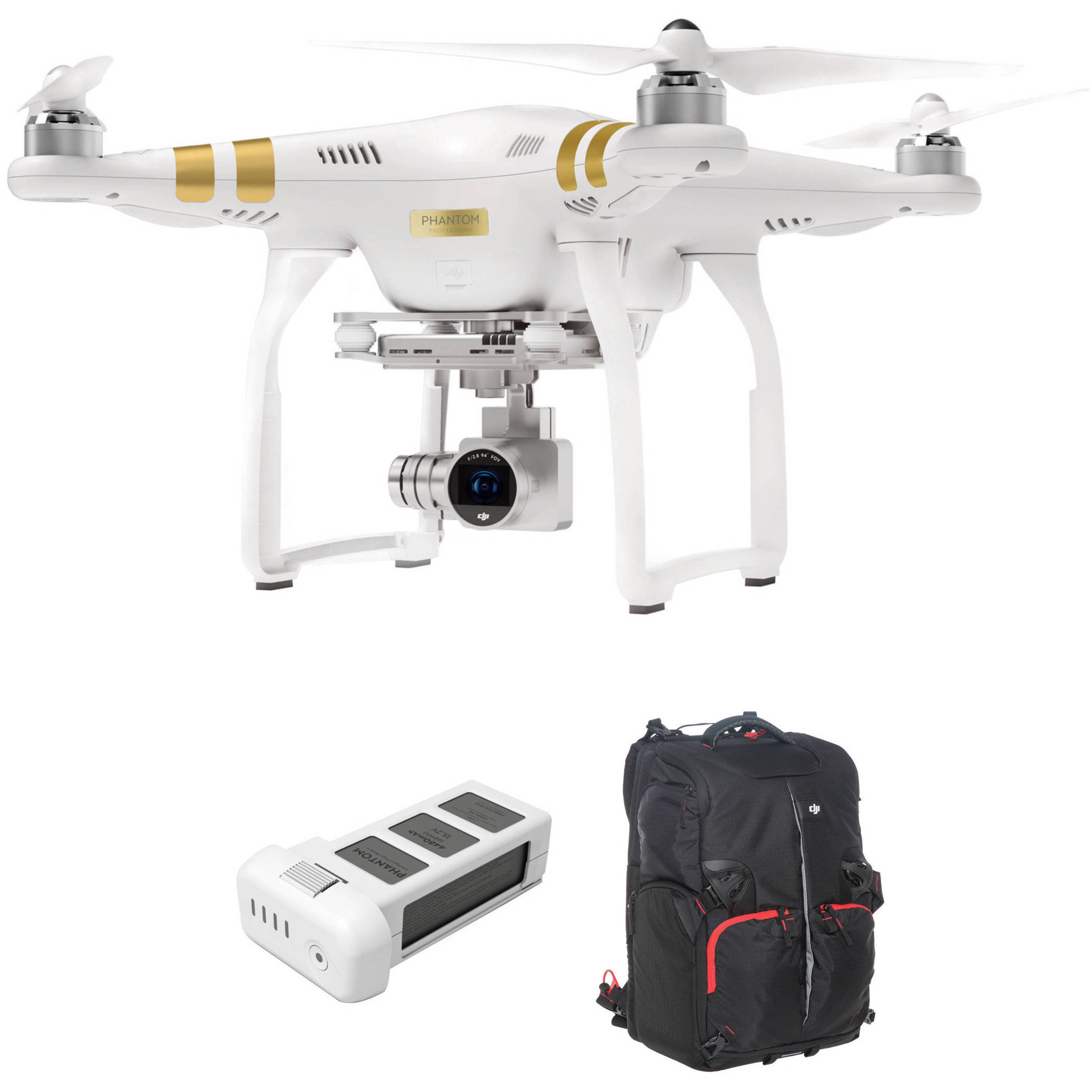dji phantom 3 professional with 4k camera and battery djip3pwbp. Black Bedroom Furniture Sets. Home Design Ideas