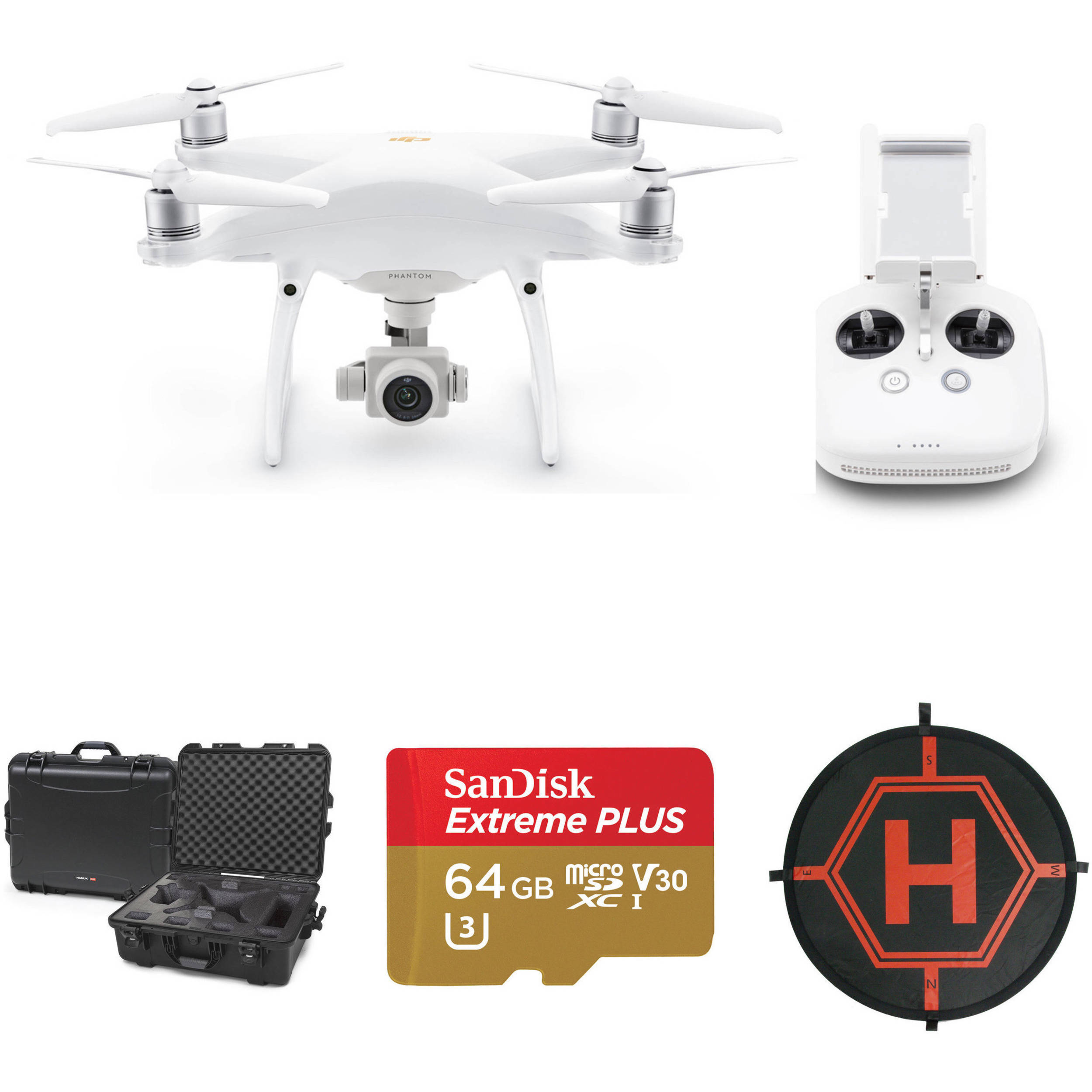 DJI Phantom 4 Pro v2.0 Drone with Hard Case/64GB microSD ...