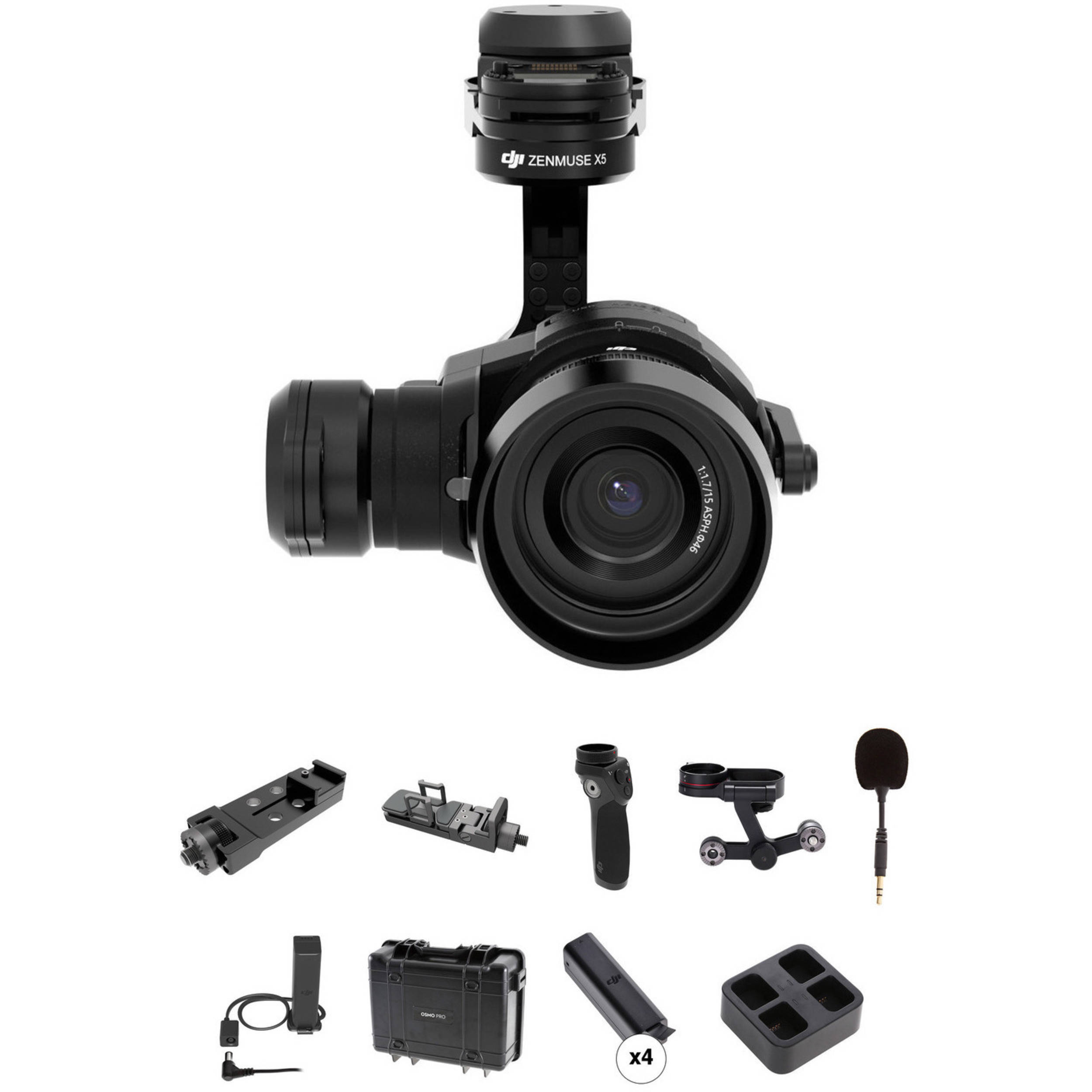 Dji Zenmuse X5 Camera Kit With Osmo Accessories Bh Photo Fm Gain Signal 180 Crystalsky Monitor