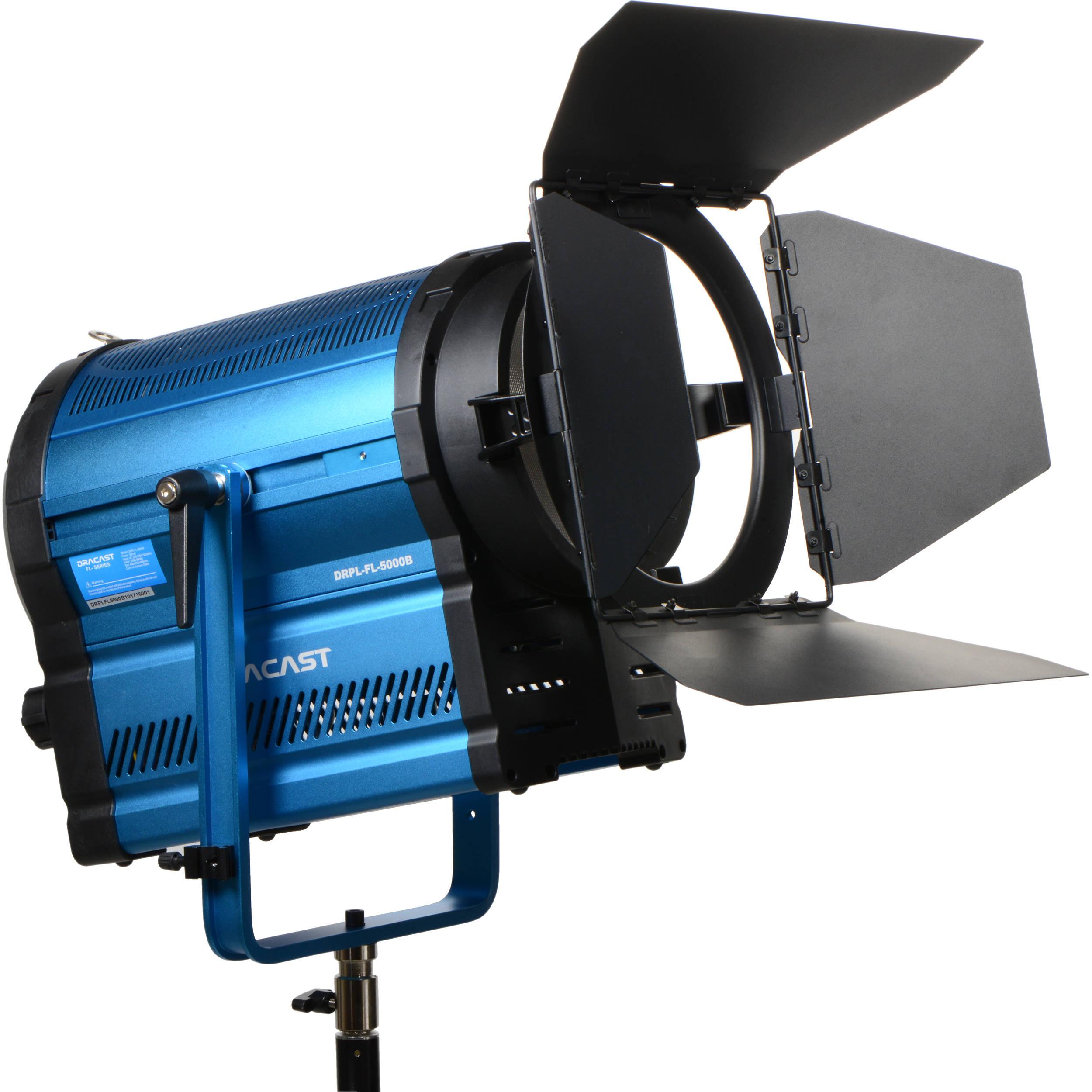 Dracast LED5000 Bi-Color LED Fresnel Plus with DMX DRPL-FL ...
