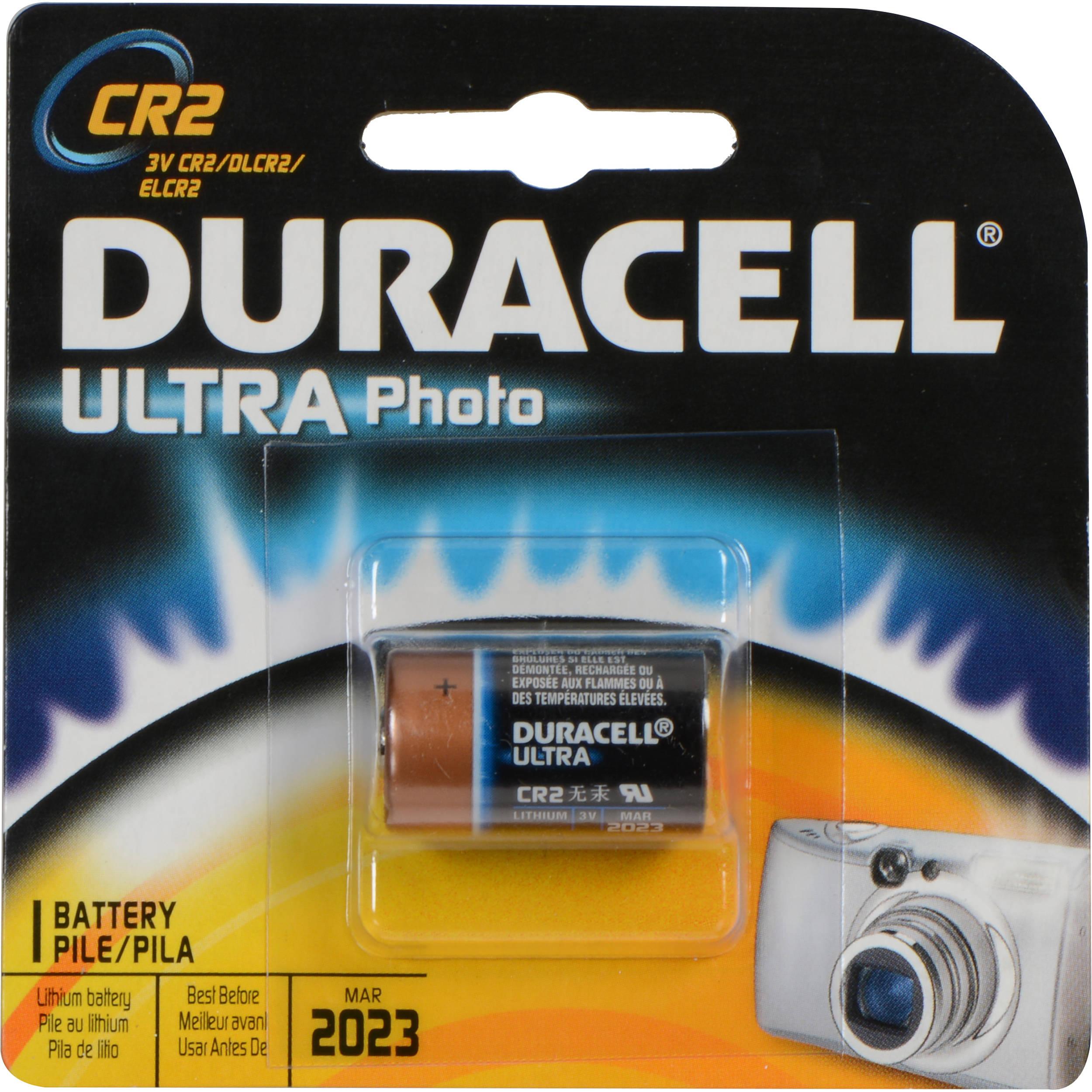 Duracell ultra photo 3v cr2 lithium battery dlcr2bpk b h photo - Pile cr2 3v ...