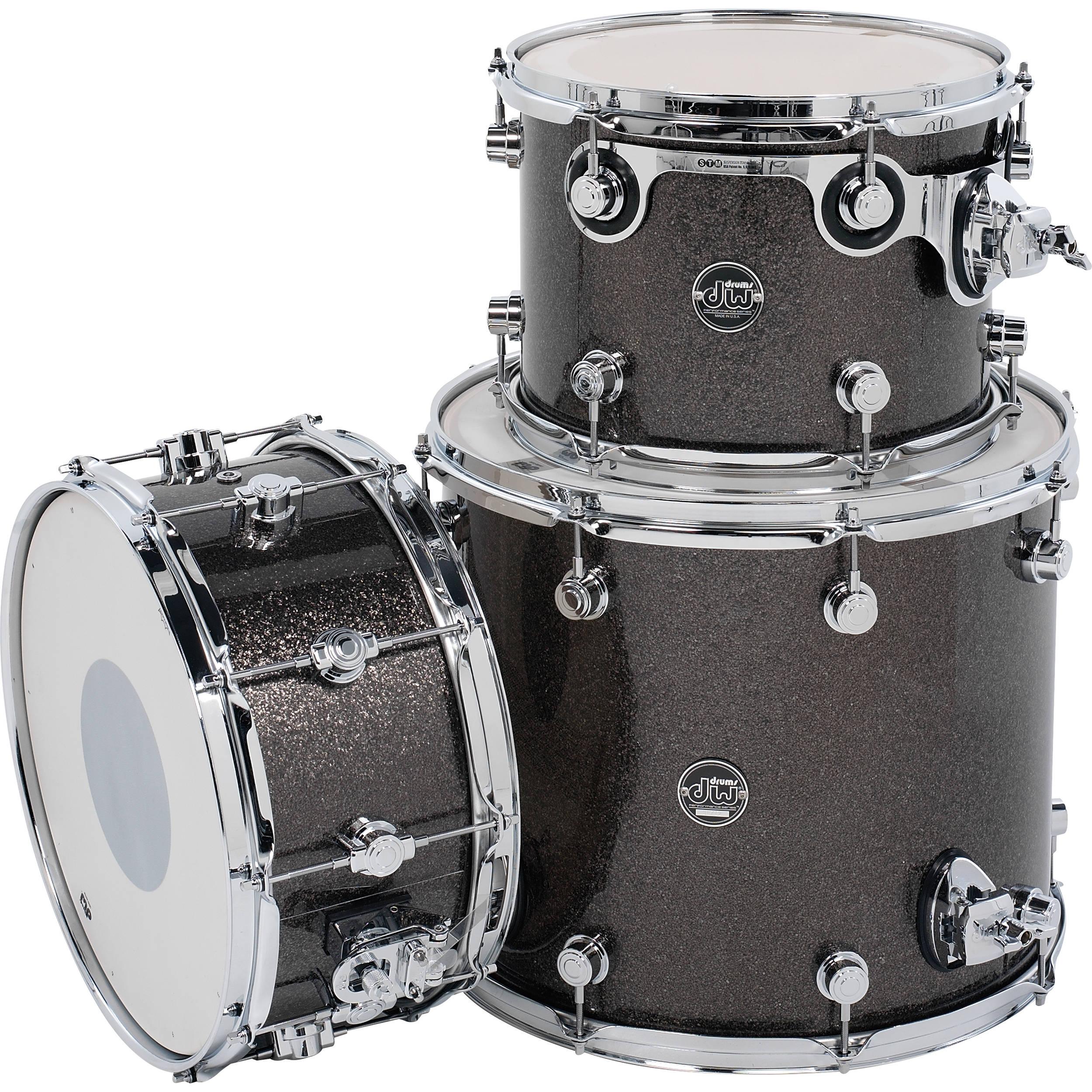 dw drums performance series 3 piece tom snare drum drpftmpk03ps. Black Bedroom Furniture Sets. Home Design Ideas