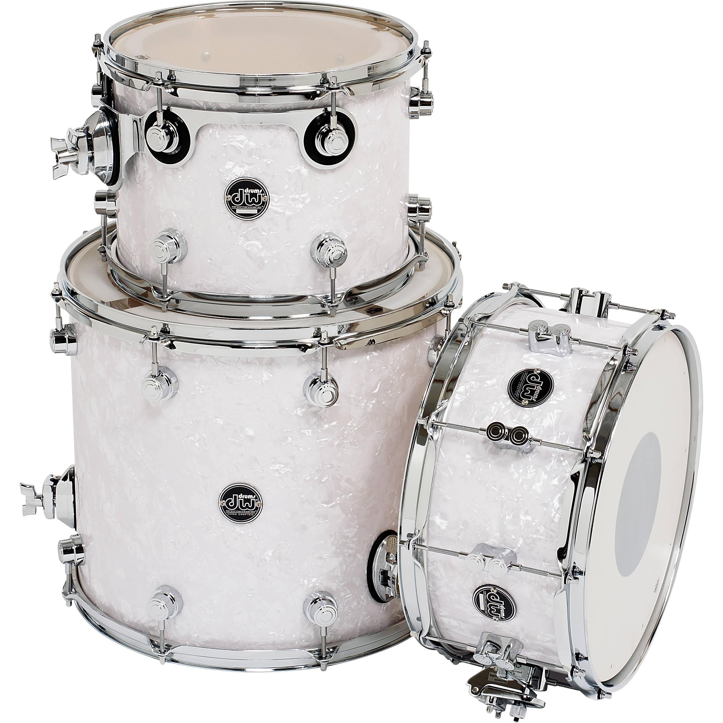 dw drums performance series 3 piece tom snare drum drpftmpk03wm. Black Bedroom Furniture Sets. Home Design Ideas
