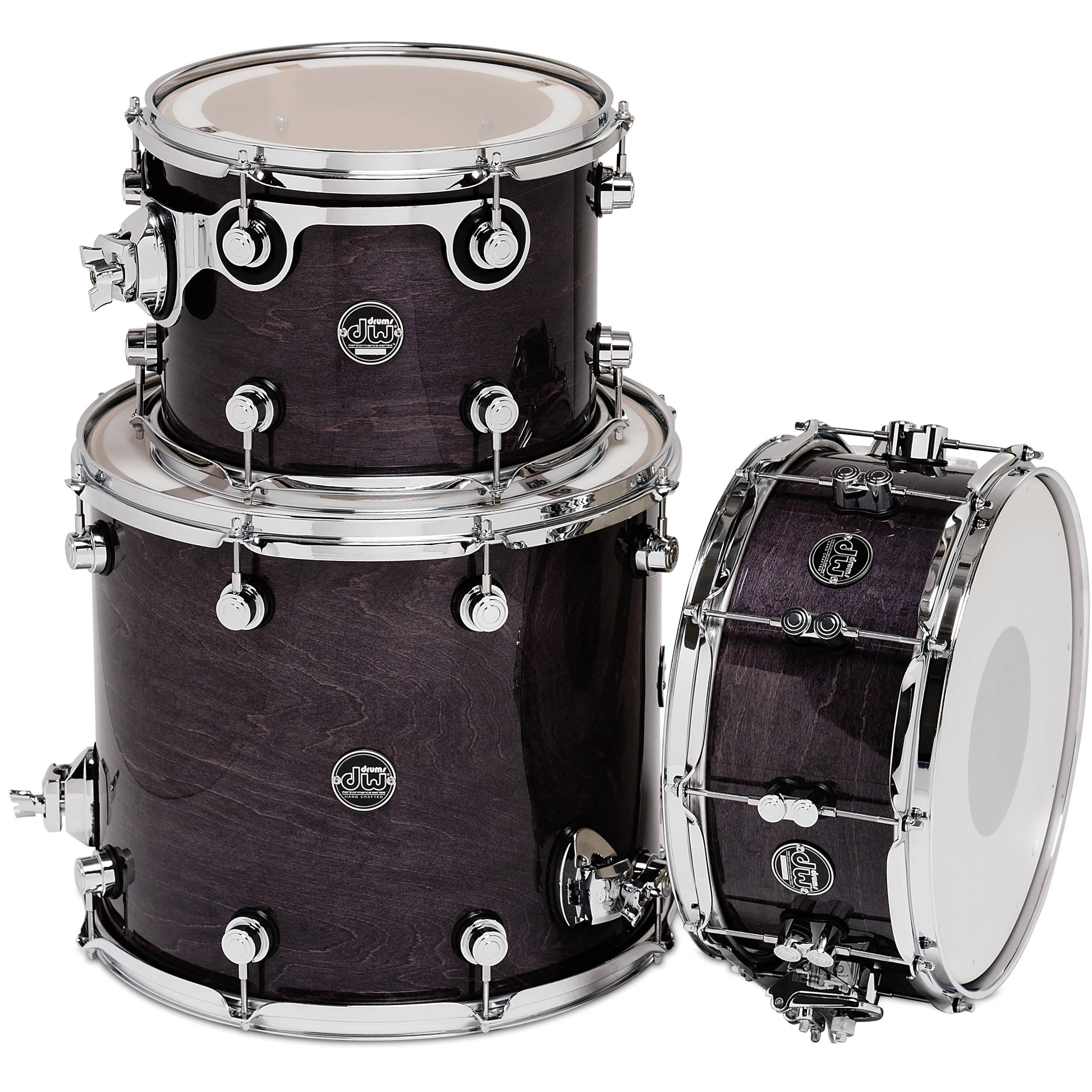 dw drums performance series 3 piece tom snare drum drpltmpk03es. Black Bedroom Furniture Sets. Home Design Ideas