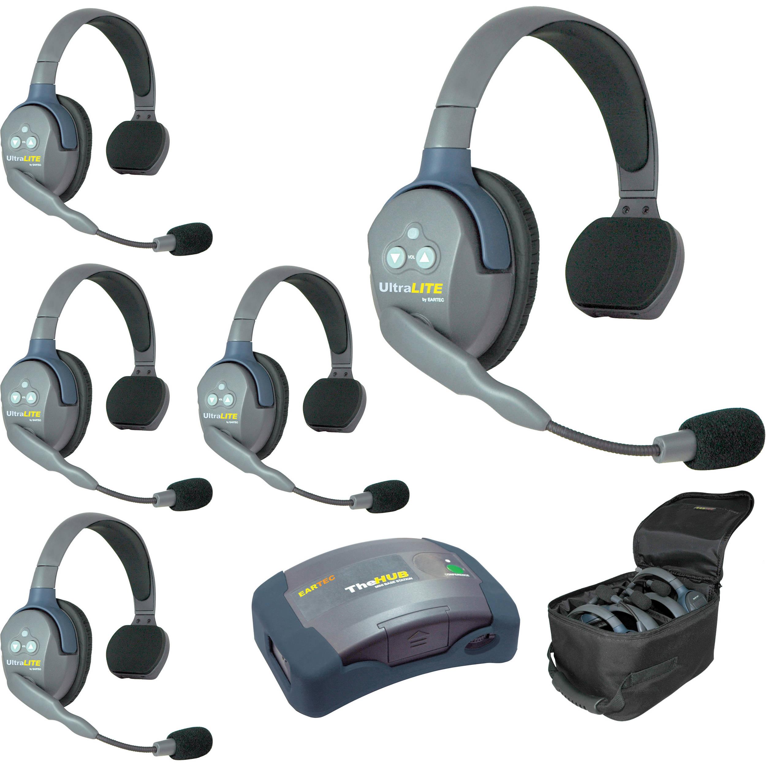 Eartec Hub5s Ultralite 5 Person Hub Intercom System Usa