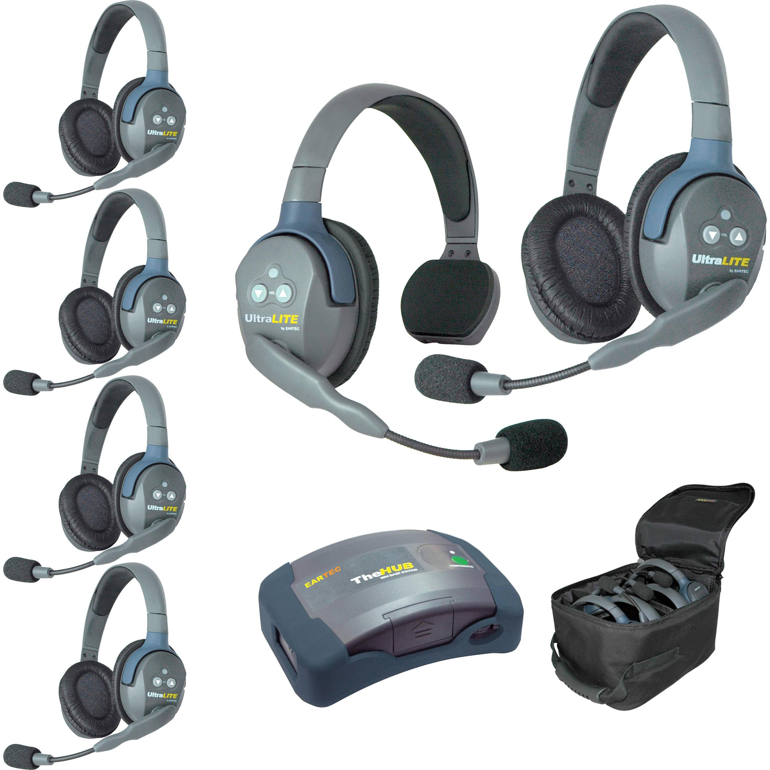 Eartec Hub615 Ultralite 6 Person Hub Intercom System Usa