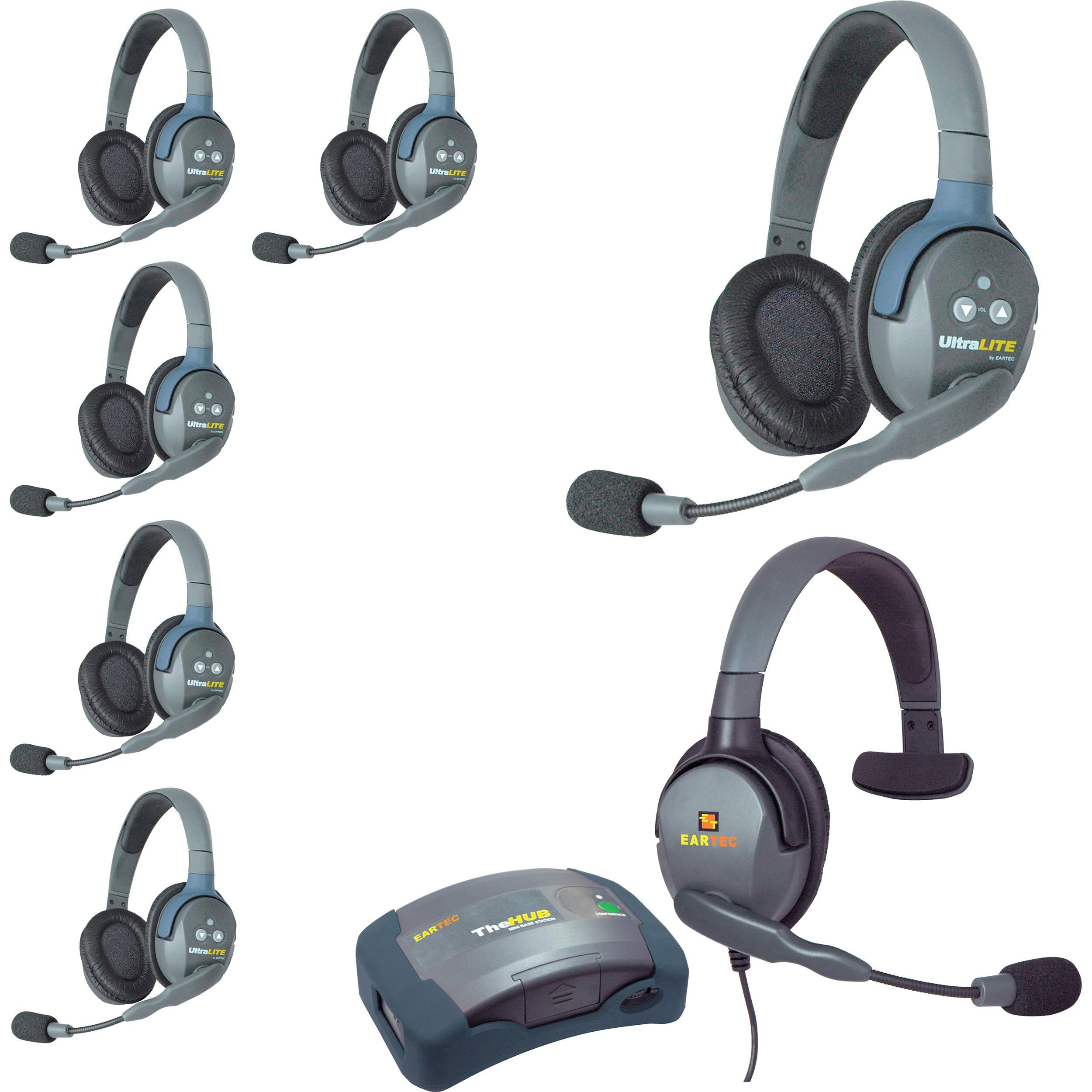Eartec Hub7dmxs Ultralite 7 Person Hub Intercom System