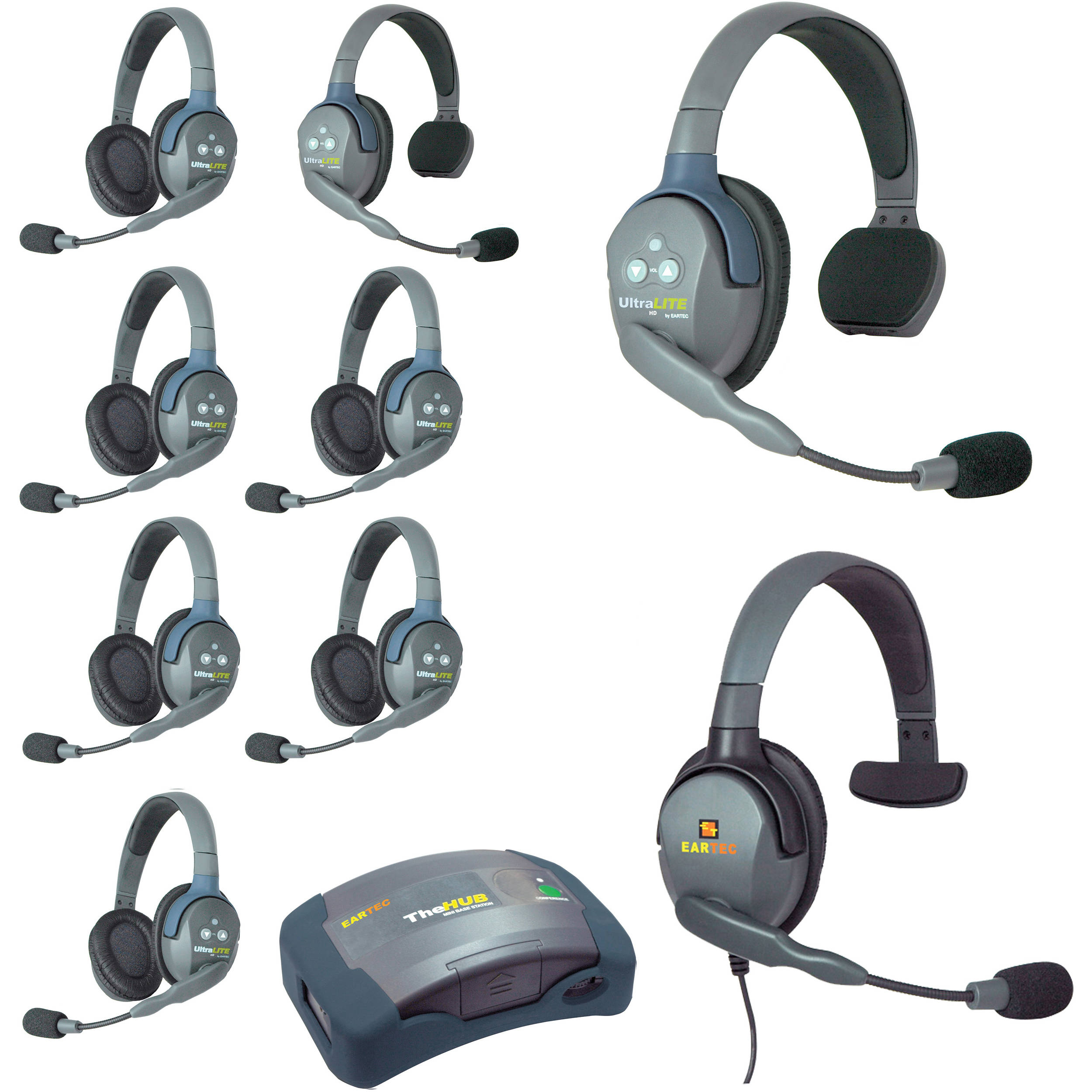 Eartec Hub926mxs Ultralite 9 Person Hub Intercom System
