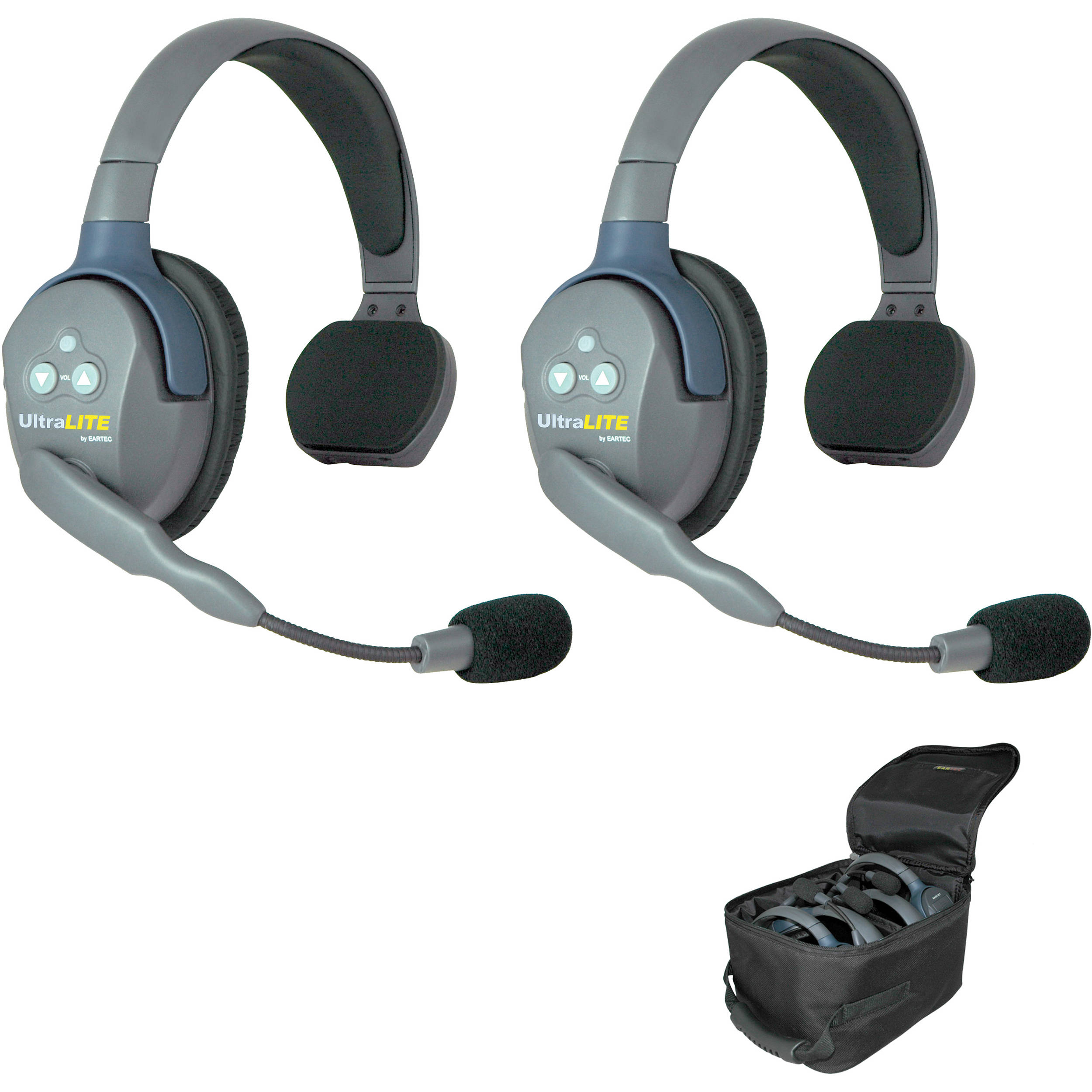 Eartec Ul2s Ultralite 2 Person Headset System Usa Ul2s B Amp H