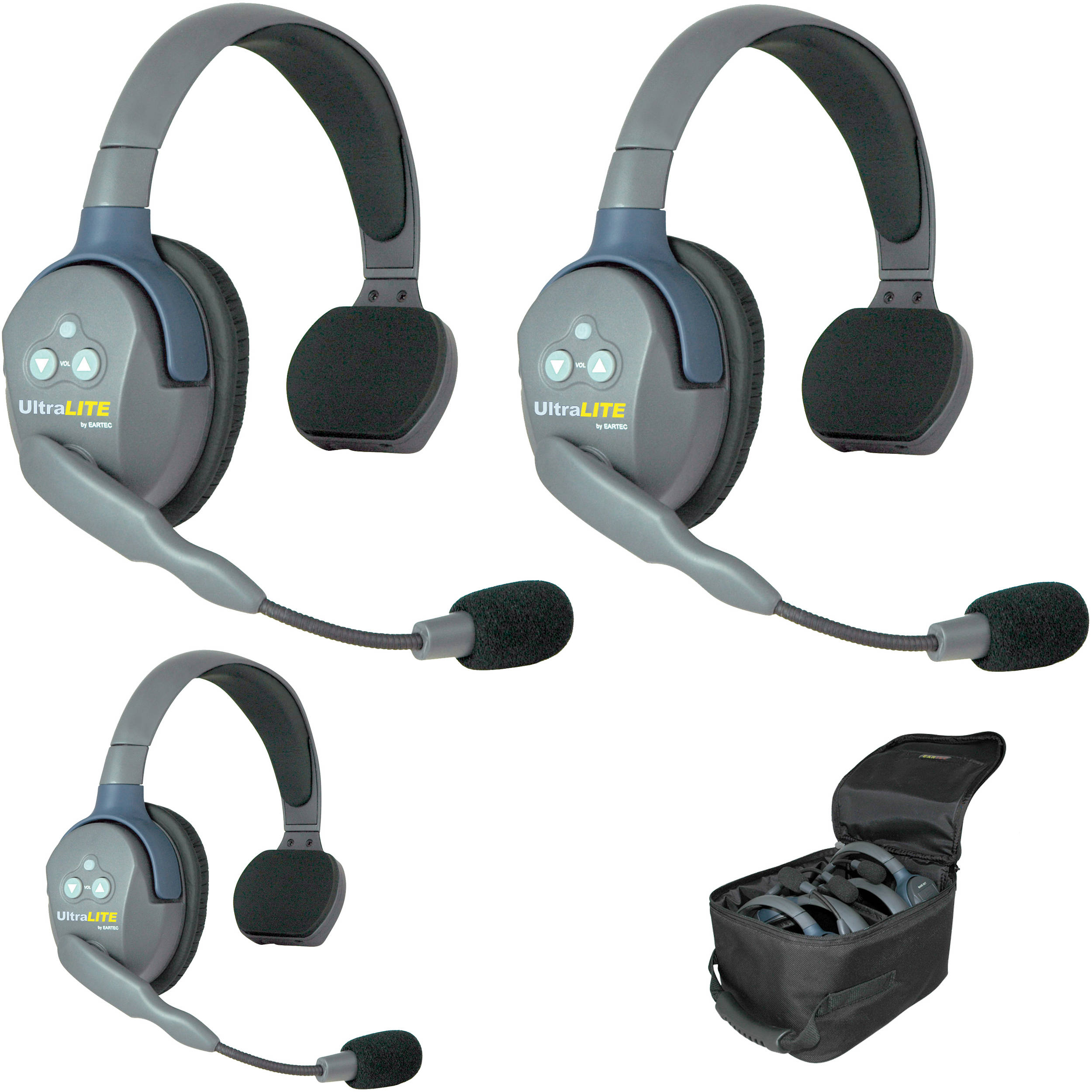 Eartec Ul3s Ultralite 3 Person Headset System Usa Ul3s B Amp H