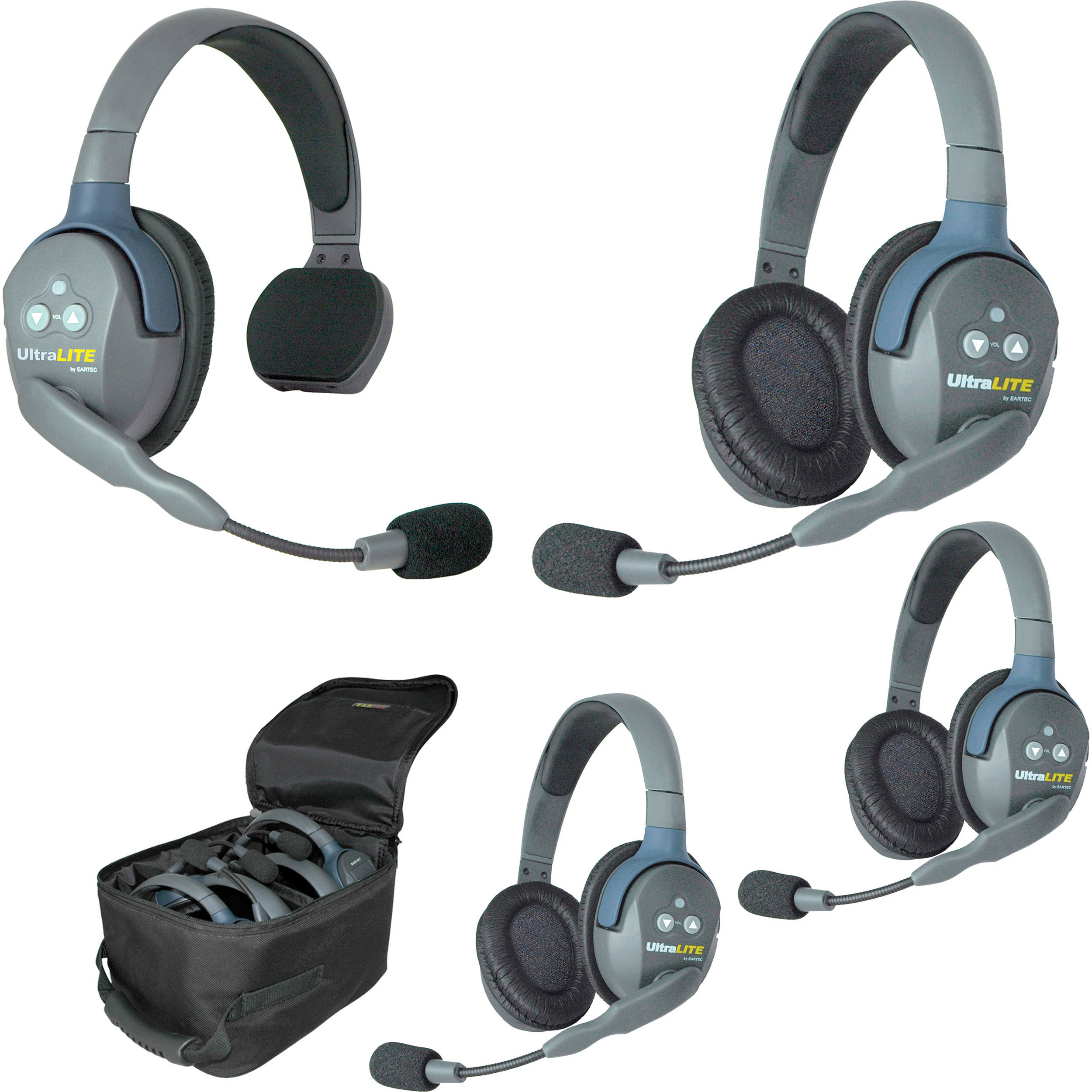 Eartec Ul413 Ultralite 4 Person Headset System Usa Ul413 B Amp H