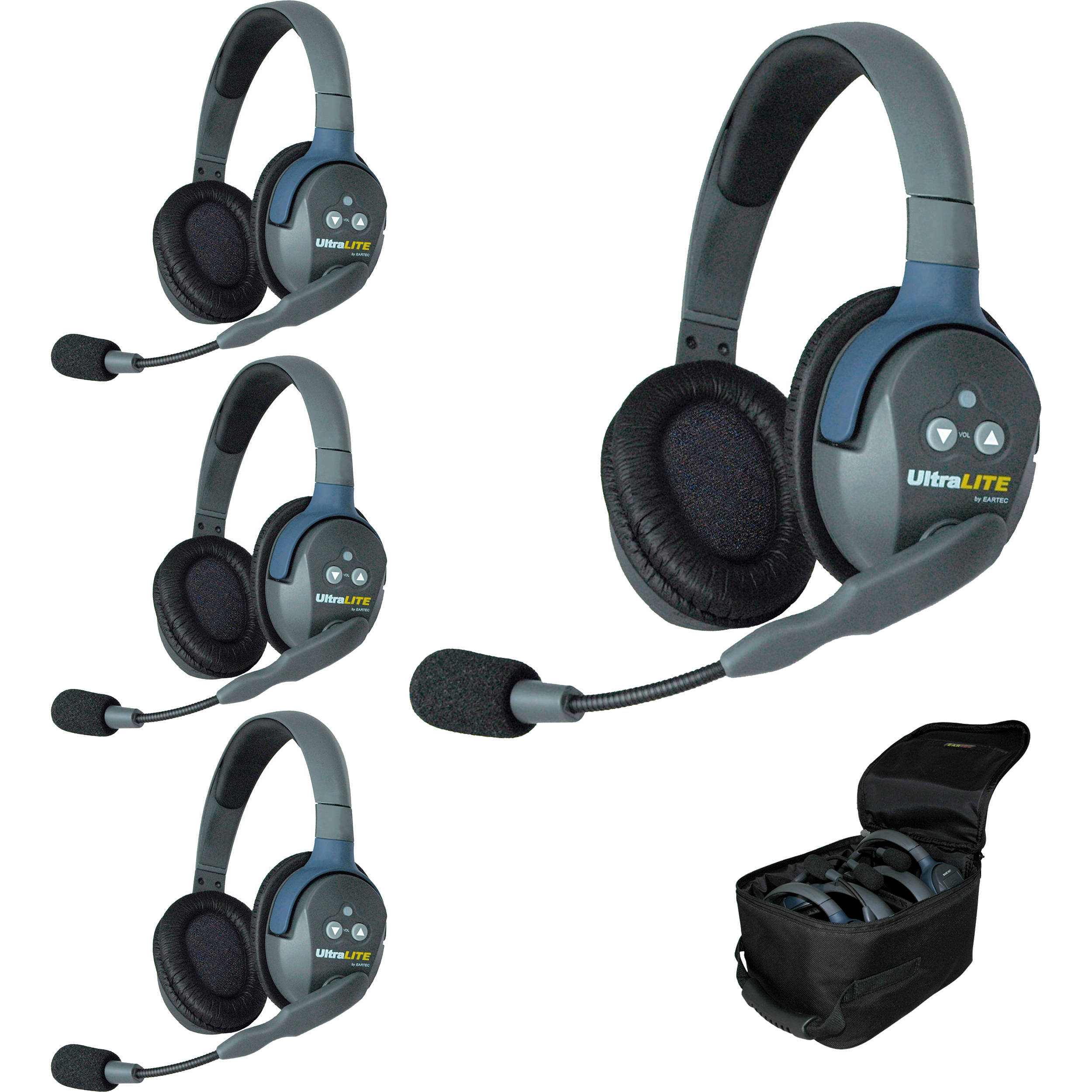 Eartec Ul4d Ultralite 4 Person Headset System Usa Ul4d B Amp H