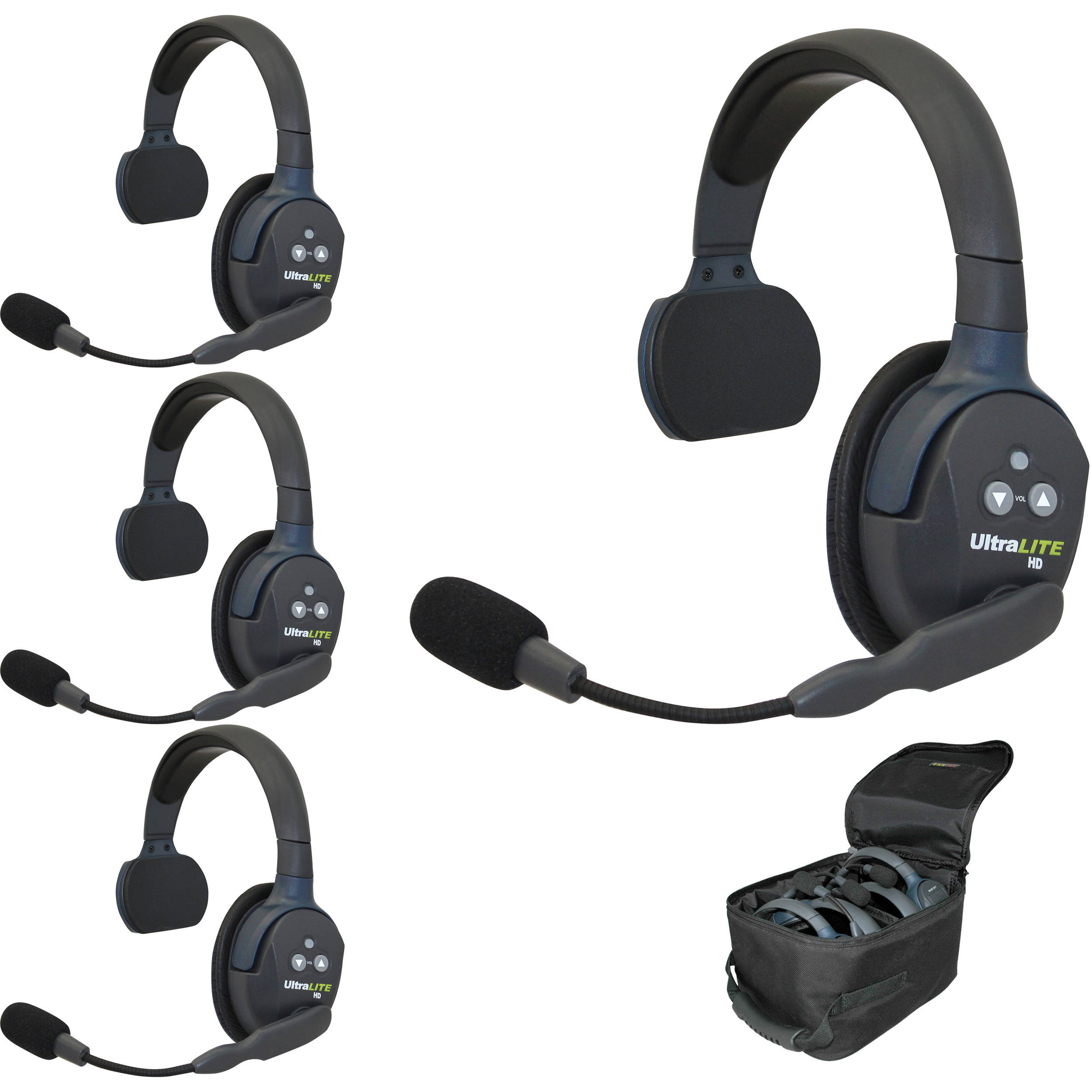 Eartec Ul4s Ultralite 4 Person Headset System Usa Ul4s B Amp H