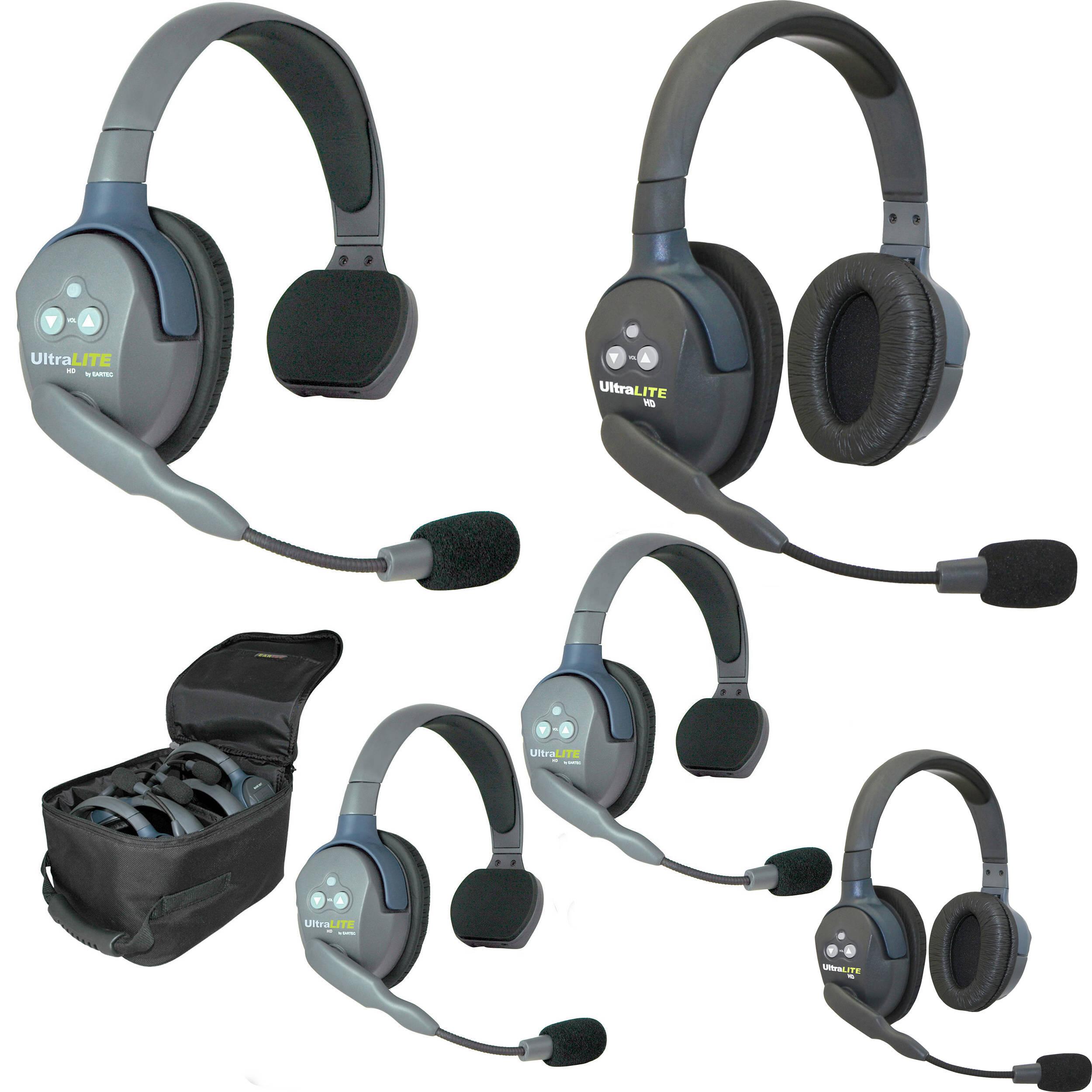 Eartec Ul532 5 Person Full Duplex Wireless Intercom With 3