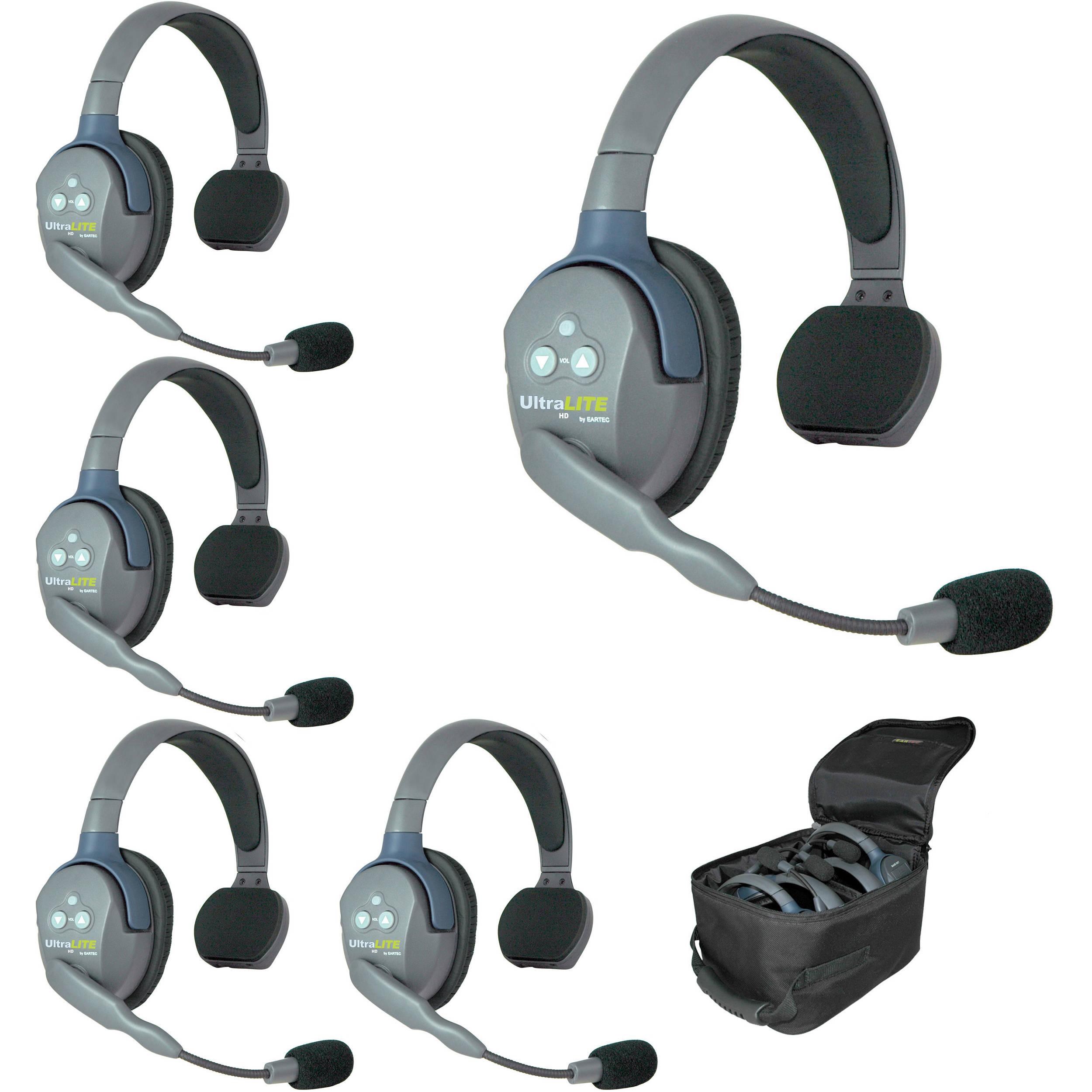 Eartec Ul5s 5 Person Full Duplex Wireless Intercom With 5 Ul5s