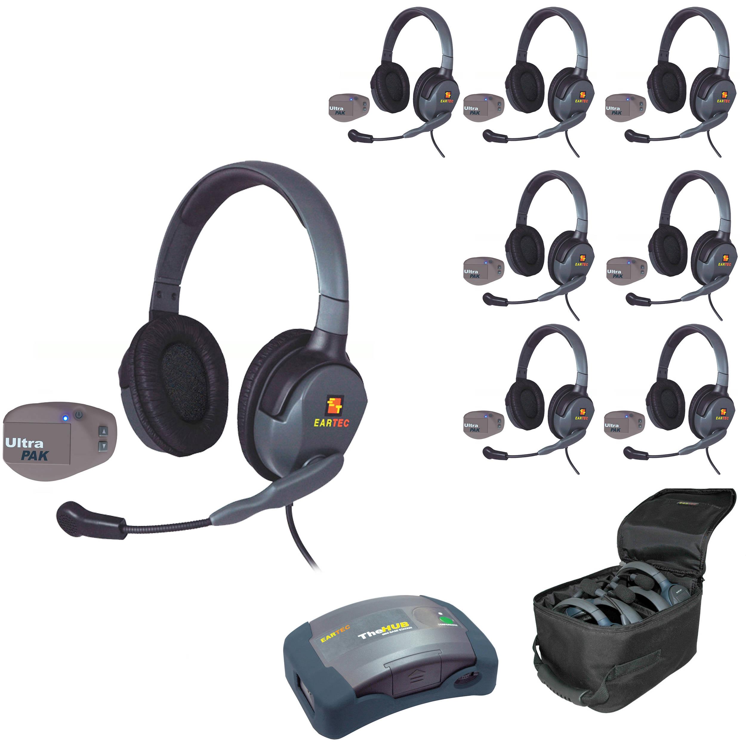 Eartec Upmx4gd8 Ultrapak 8 Person Hub Intercom System Upmx4gd8