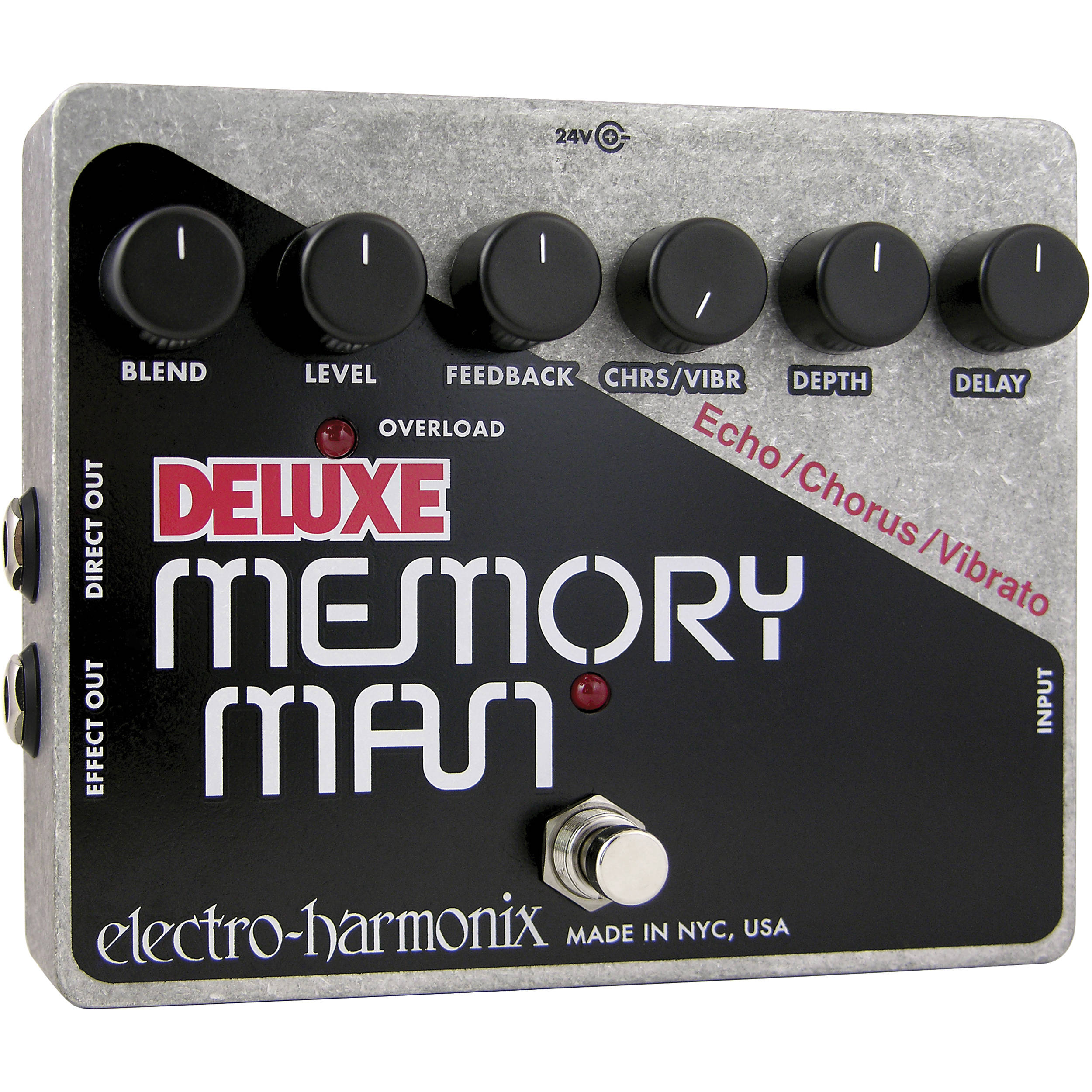 electro harmonix deluxe memory man pedal with analog delay memxo. Black Bedroom Furniture Sets. Home Design Ideas