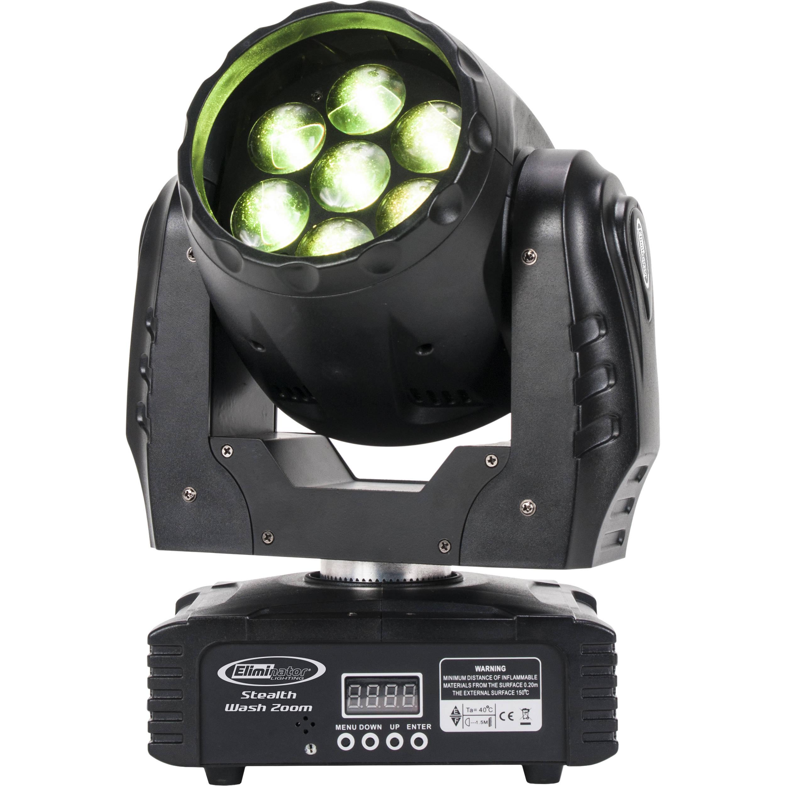 Eliminator Lighting Stealth Wash Zoom Led Bh Versatile Emergency Lamp Moving Head Light