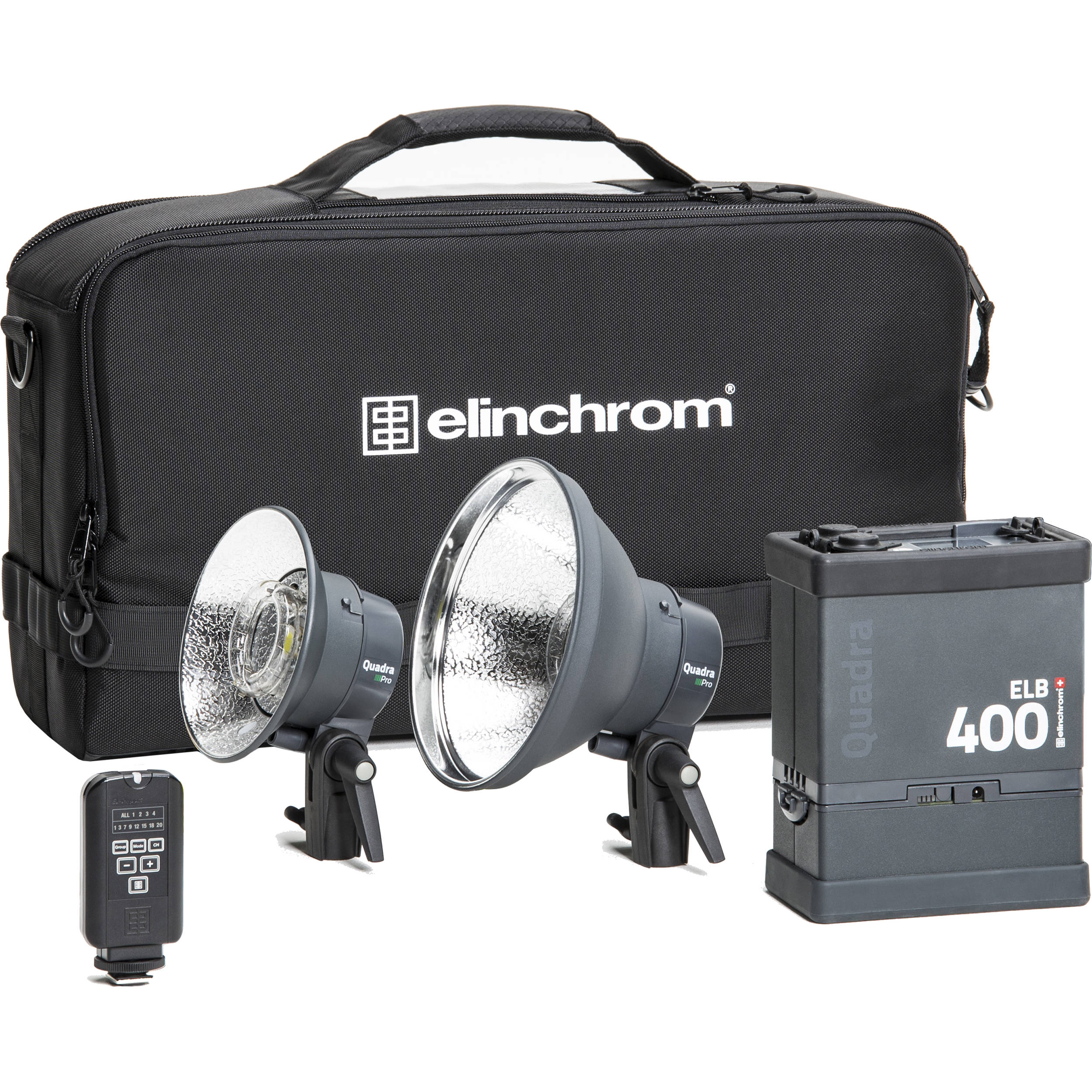 Elinchrom 500 Studio Lighting Kit: Elinchrom ELB 400 Dual Pro To Go Kit EL10420.1 B&H Photo Video