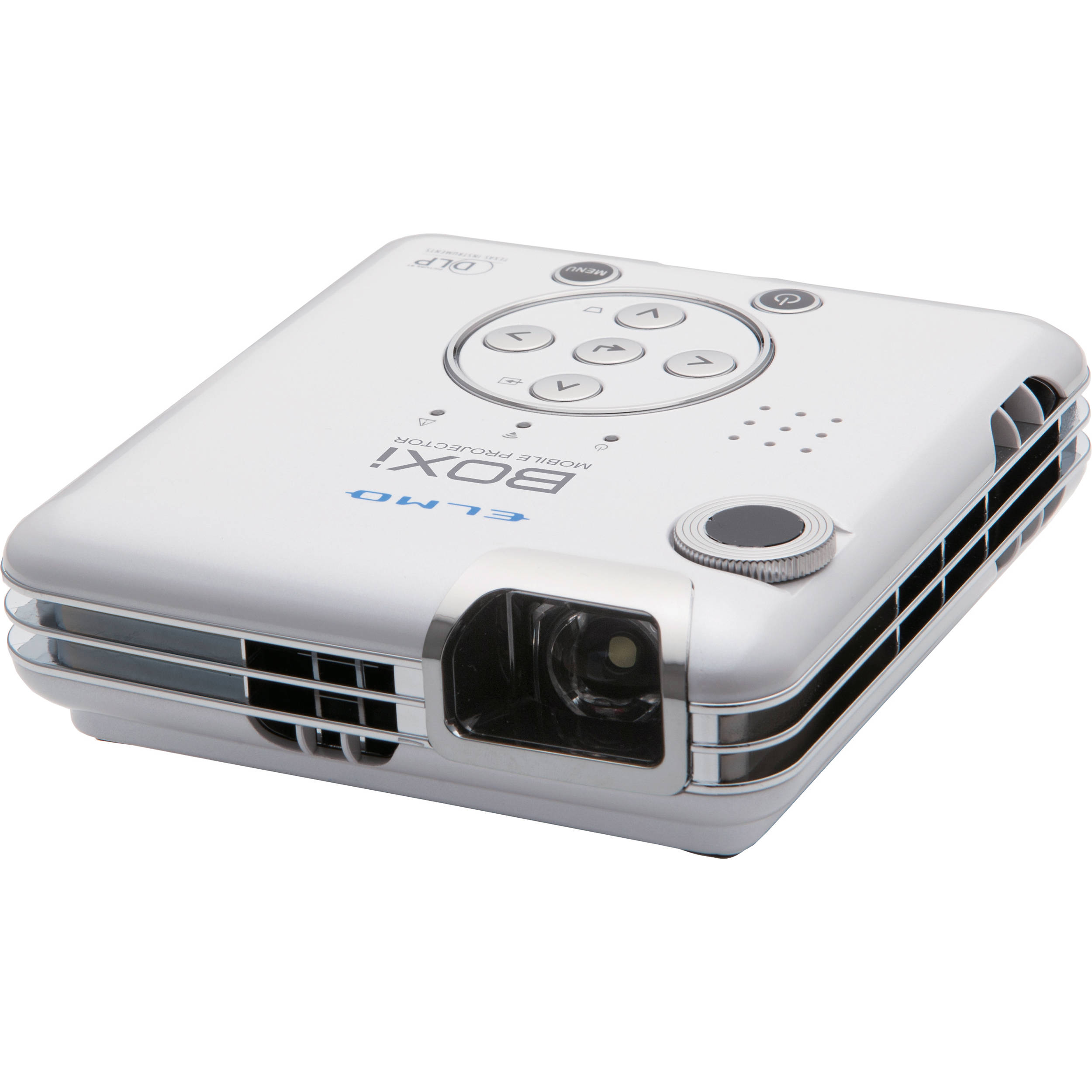 Elmo boxi mp 350 300 lumens wxga mobile projector 1915 1 b h for Best mobile projector