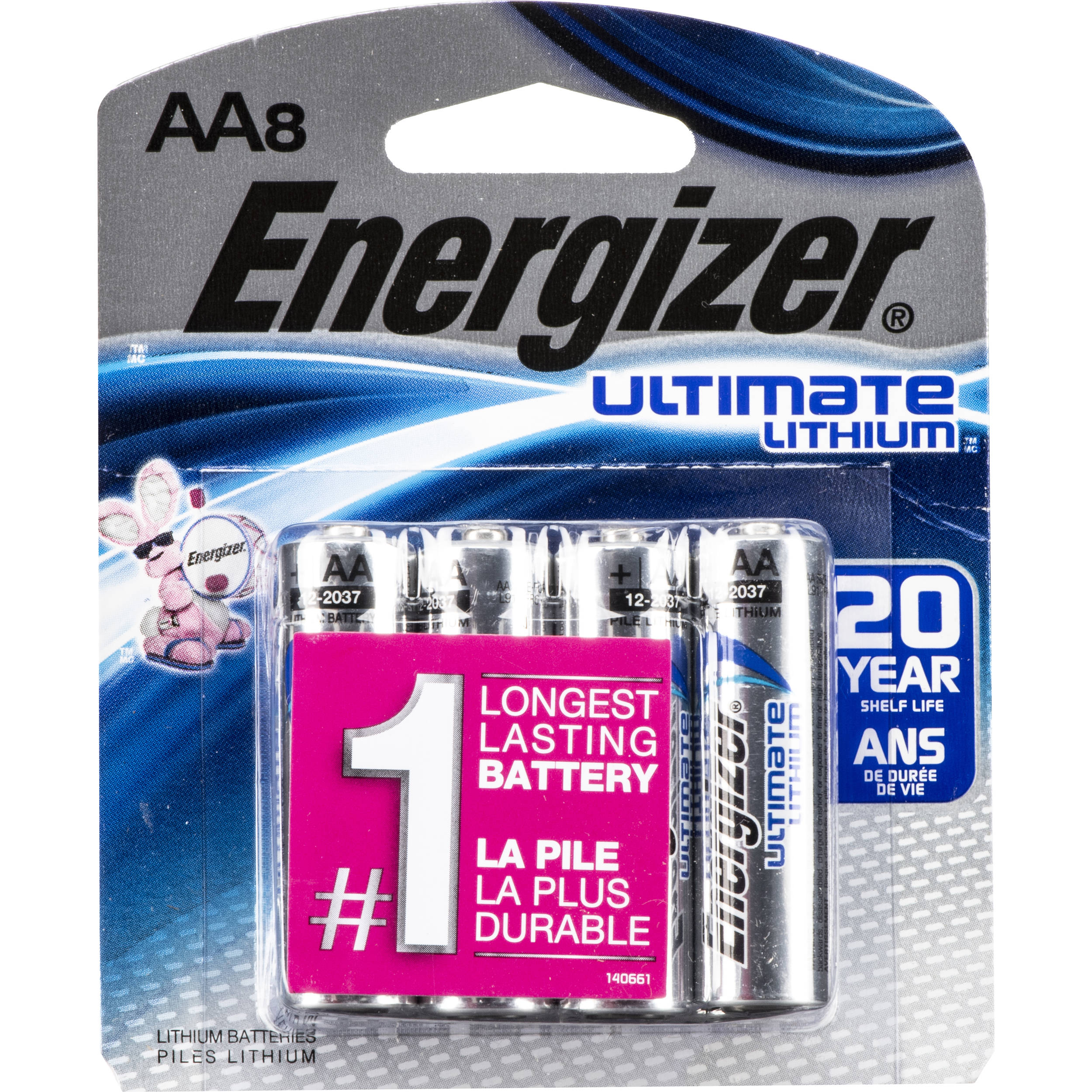 energizer ultimate lithium aa batteries 57 eulaa8d b h photo. Black Bedroom Furniture Sets. Home Design Ideas
