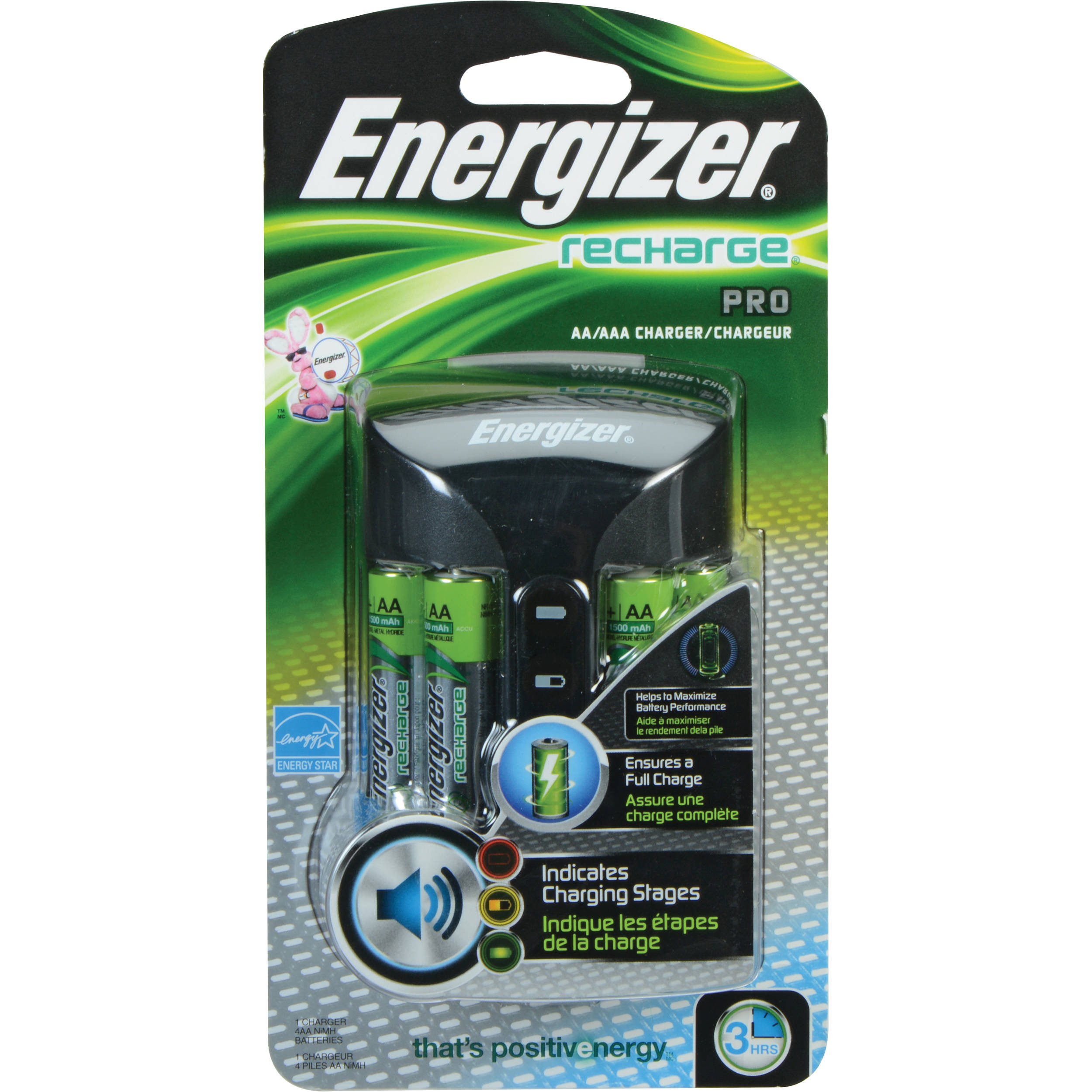 Energizer Recharge Pro Charger For Aa And Aaa Nimh