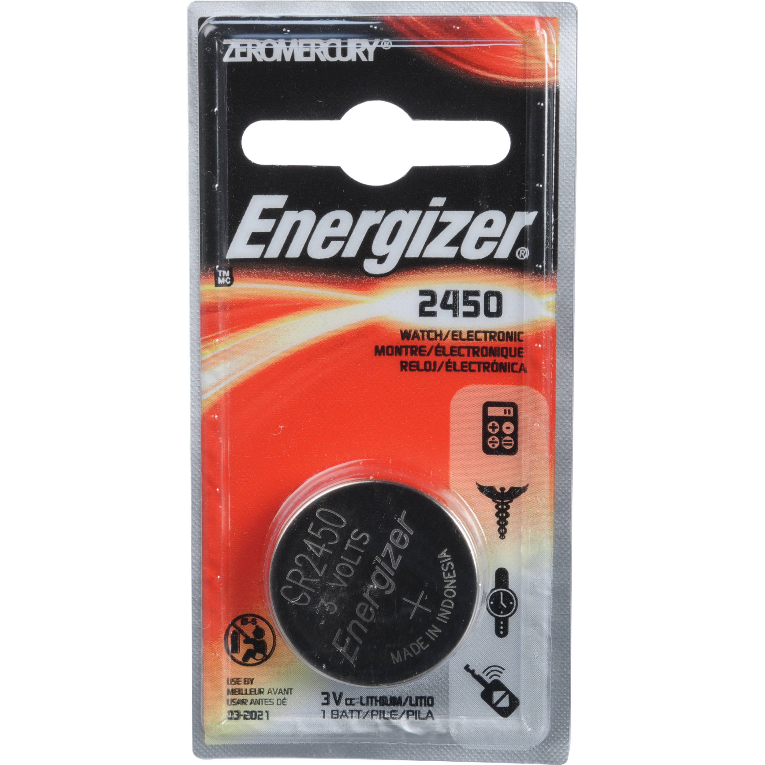 energizer cr2450 coin lithium battery cr2450bp b h photo video. Black Bedroom Furniture Sets. Home Design Ideas