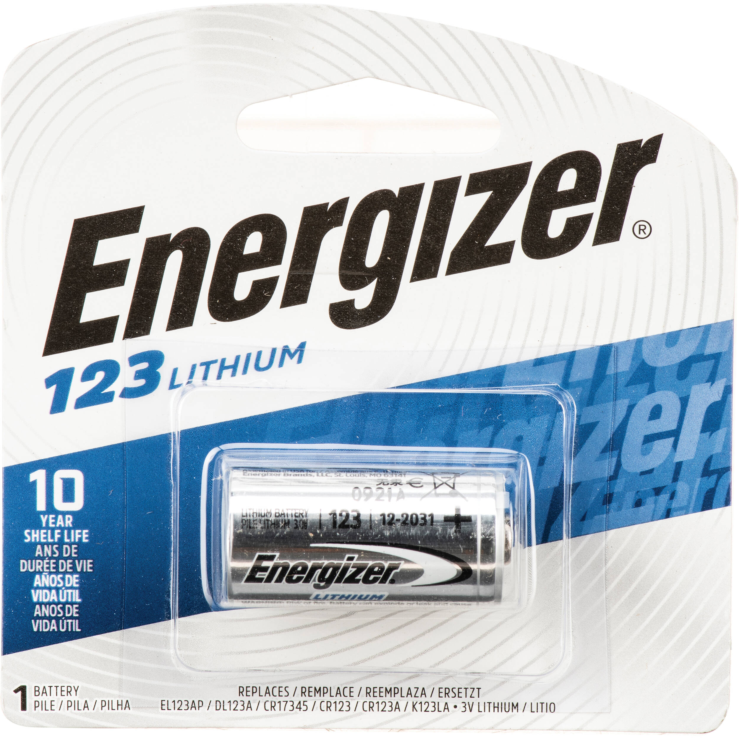 energizer 123 lithium battery 3v 1500mah el123ap b h photo. Black Bedroom Furniture Sets. Home Design Ideas