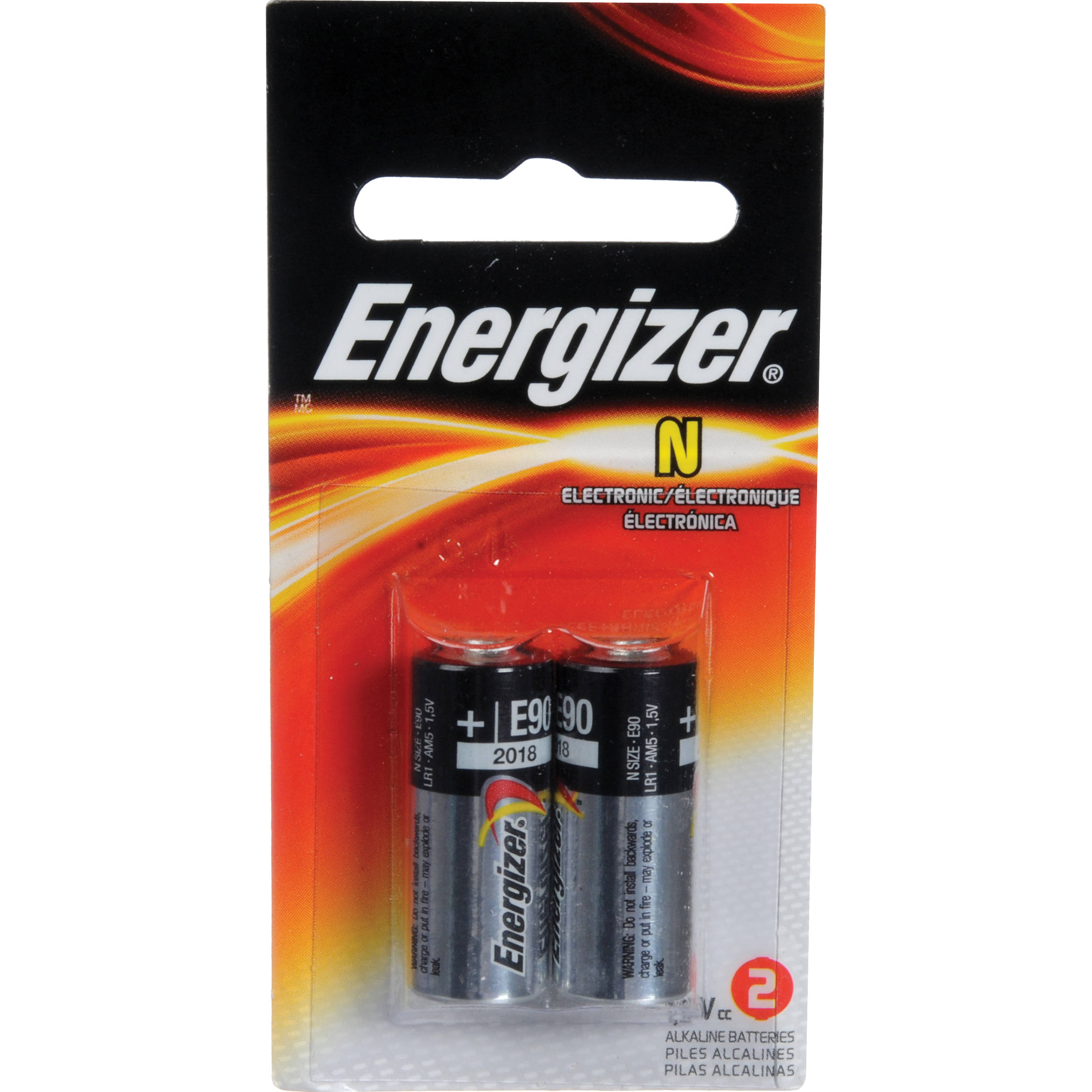 energizer e90 n 1 5v alkaline battery 2 pack n 1 5 2 b h photo. Black Bedroom Furniture Sets. Home Design Ideas