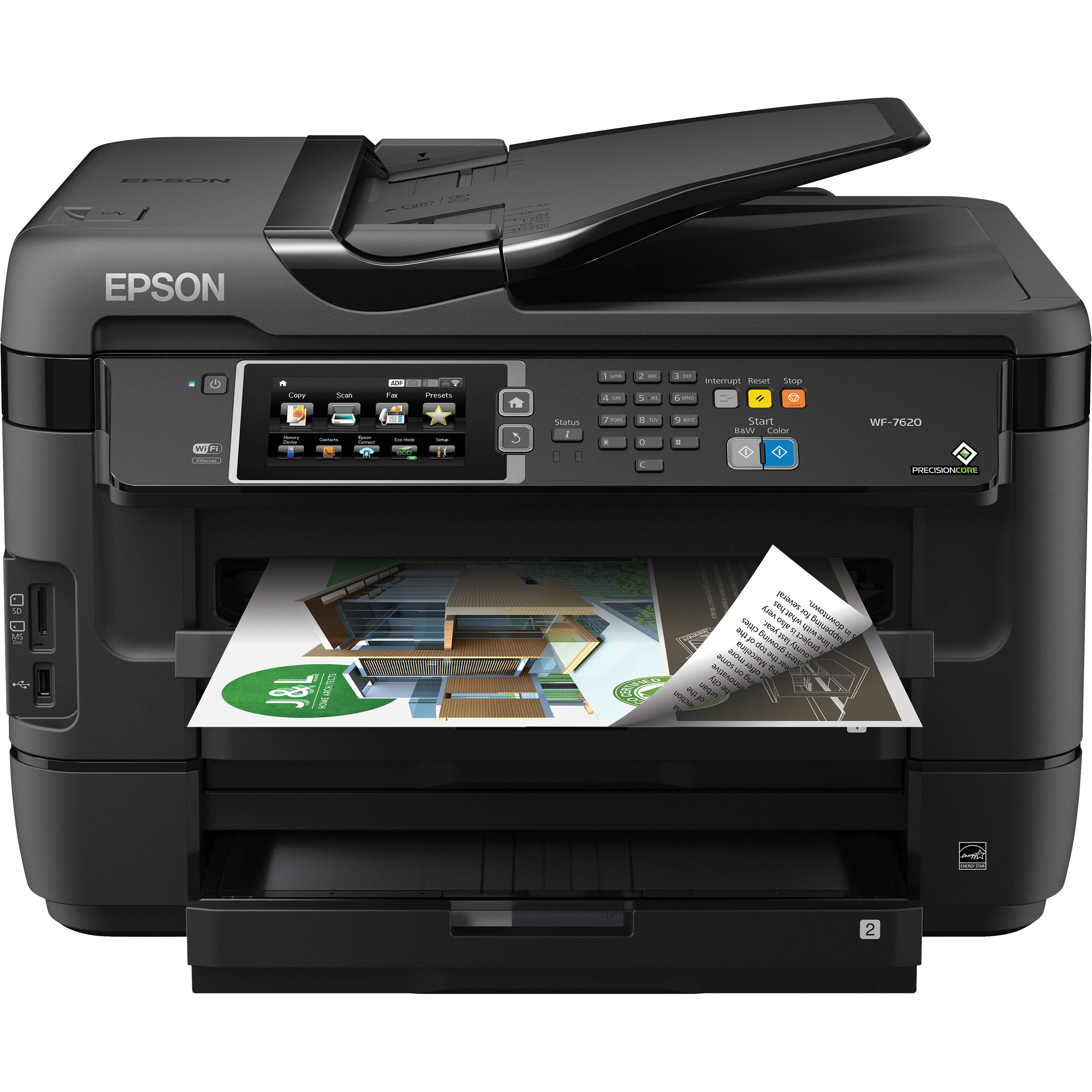 Color printer wireless - Epson Workforce Wf 7620 Wireless Color All In One Inkjet Printer
