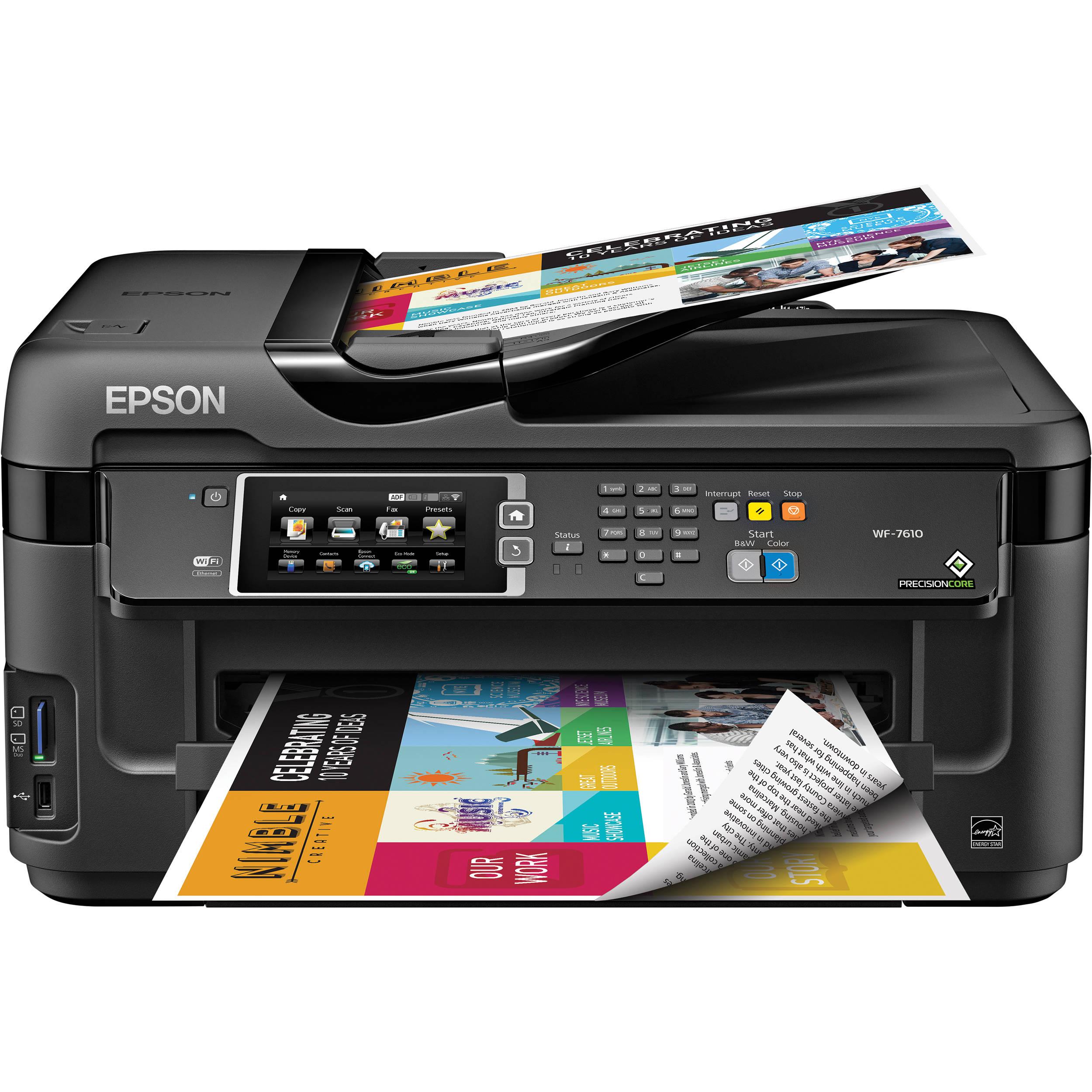Epson Workforce Wf 7610 All In One Printer Inkjet
