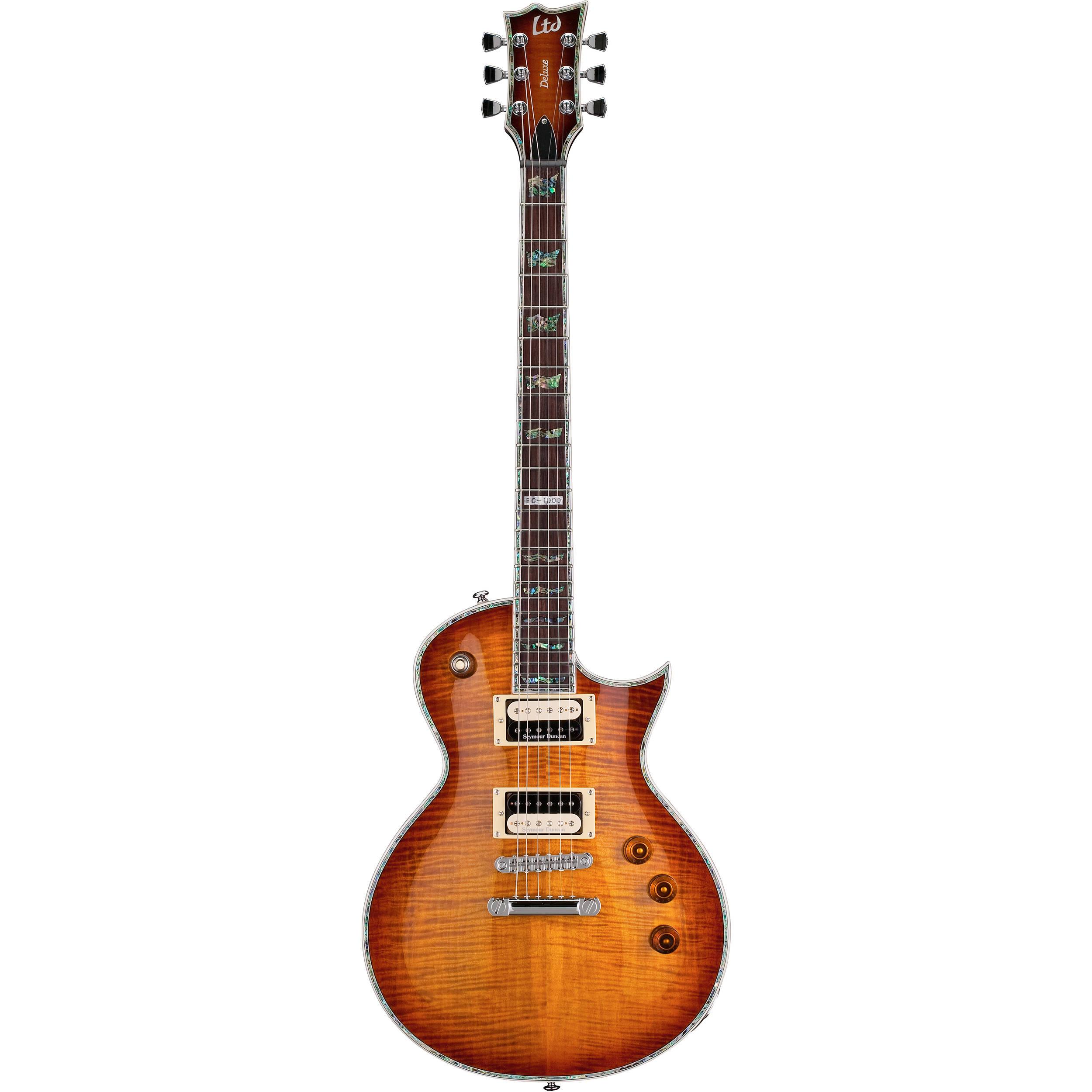 esp ltd ec 1000fm electric guitar amber sunburst lec1000asb. Black Bedroom Furniture Sets. Home Design Ideas