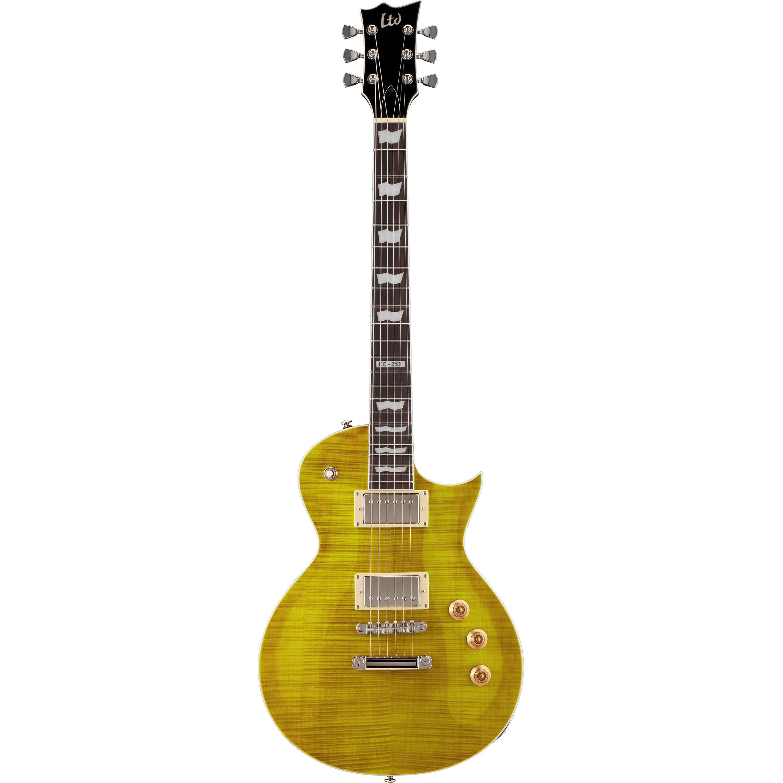 esp ltd ec 256fm electric guitar lemon drop lec256ld b h photo. Black Bedroom Furniture Sets. Home Design Ideas