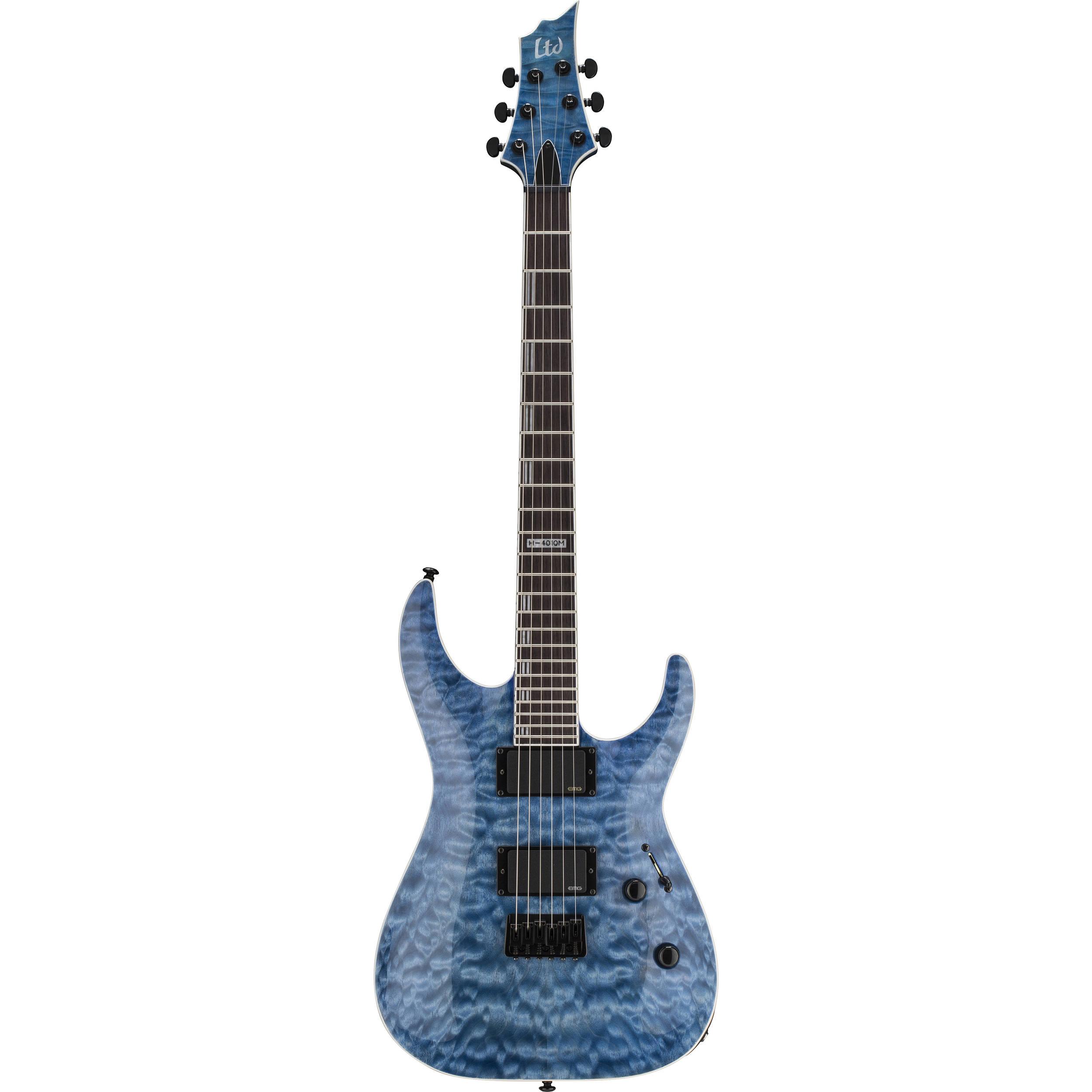Esp Ltd H 401qm Electric Guitar Faded Sky Blue