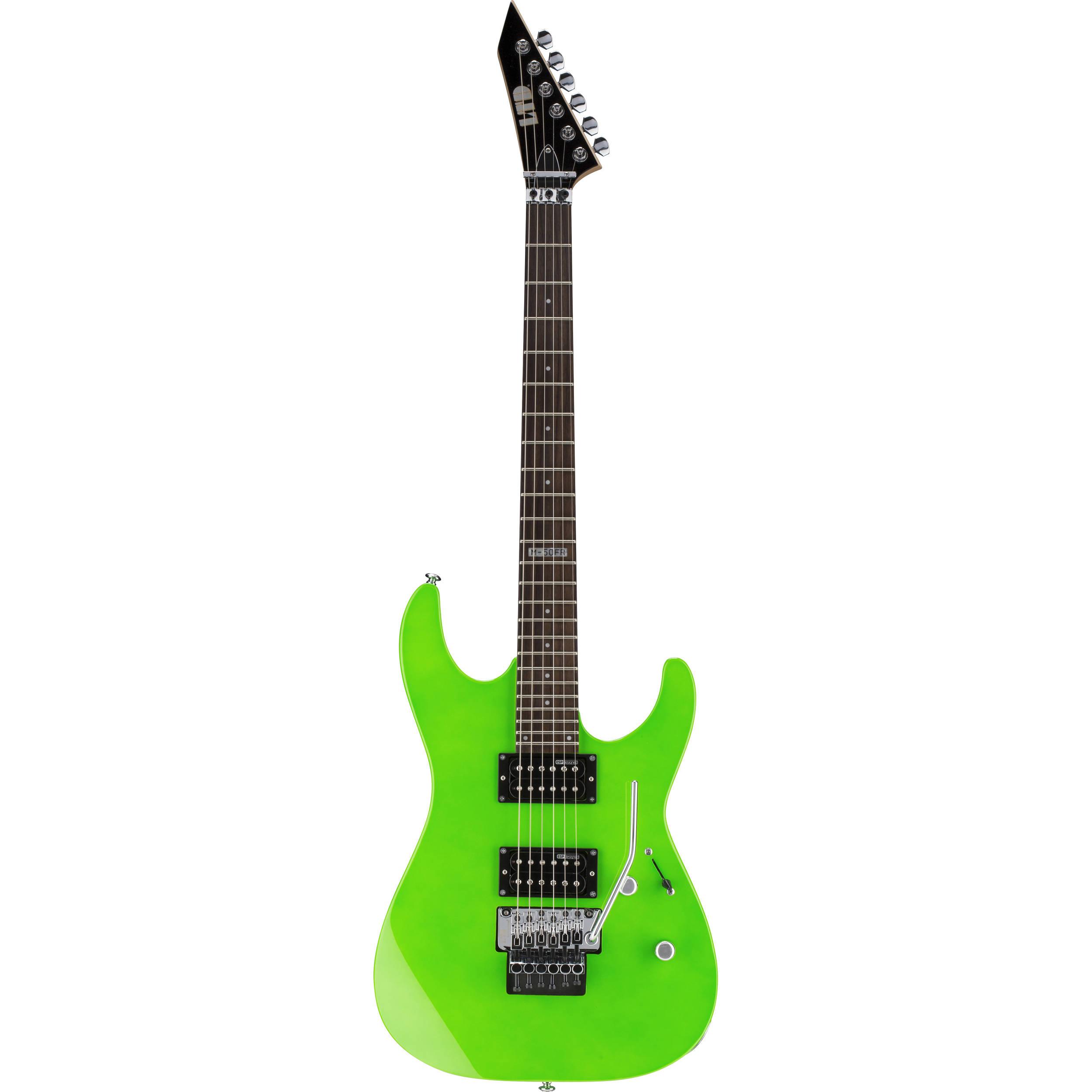 esp ltd m 50fr electric guitar neon green lm50frngr b h photo. Black Bedroom Furniture Sets. Home Design Ideas