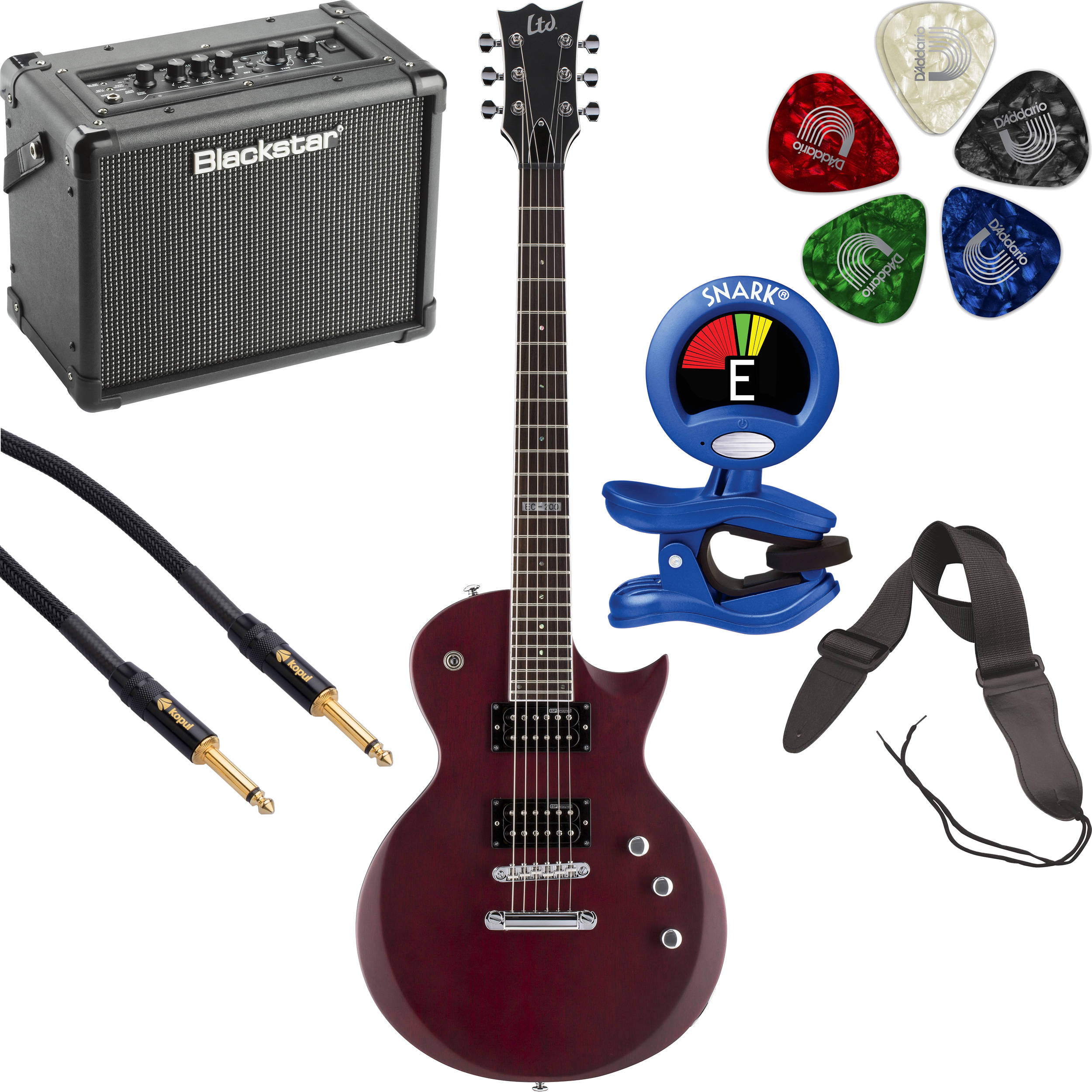 esp ltd ec 200 electric guitar starter kit b h photo video. Black Bedroom Furniture Sets. Home Design Ideas