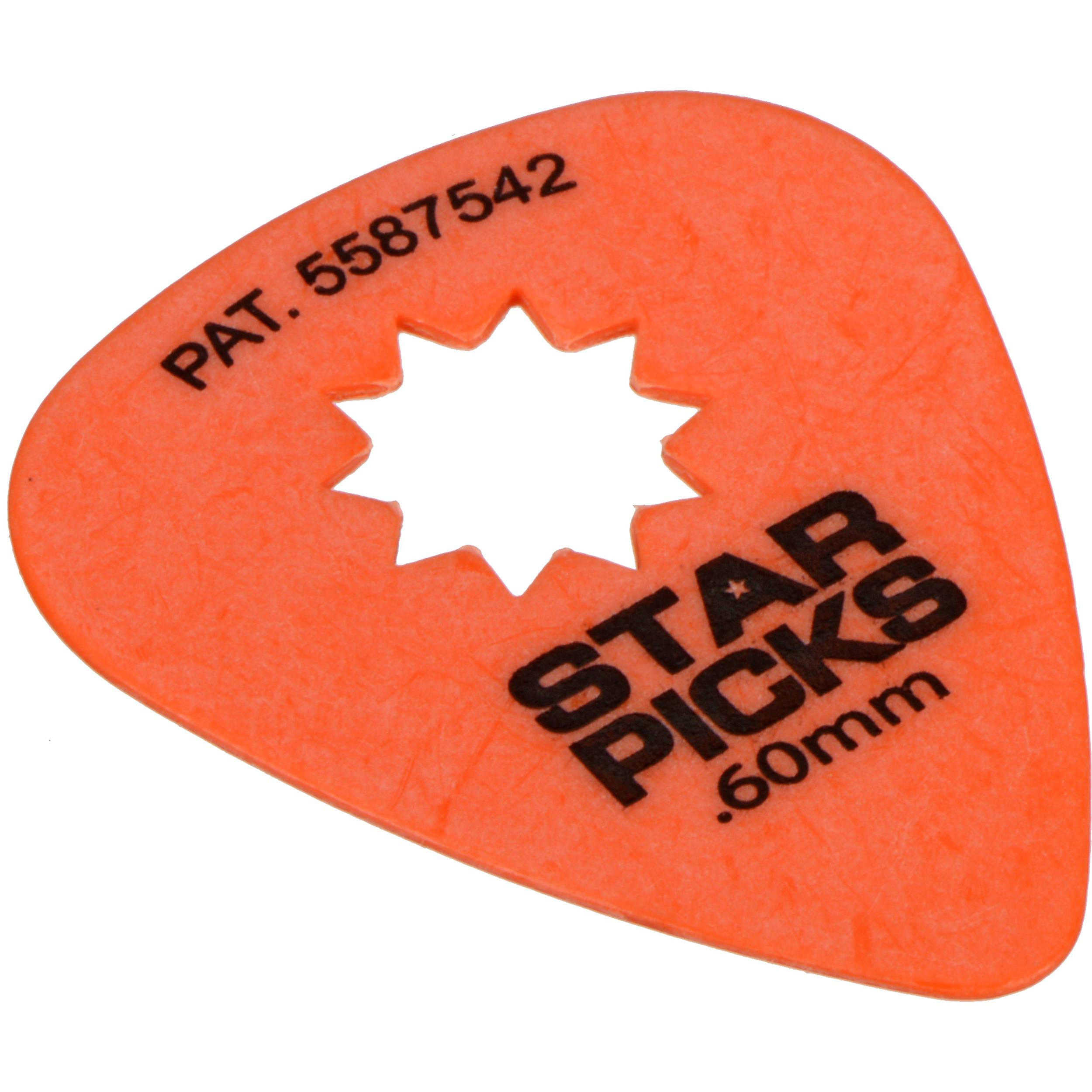everly star pick 12 pack of guitar picks 60mm orange 30022. Black Bedroom Furniture Sets. Home Design Ideas