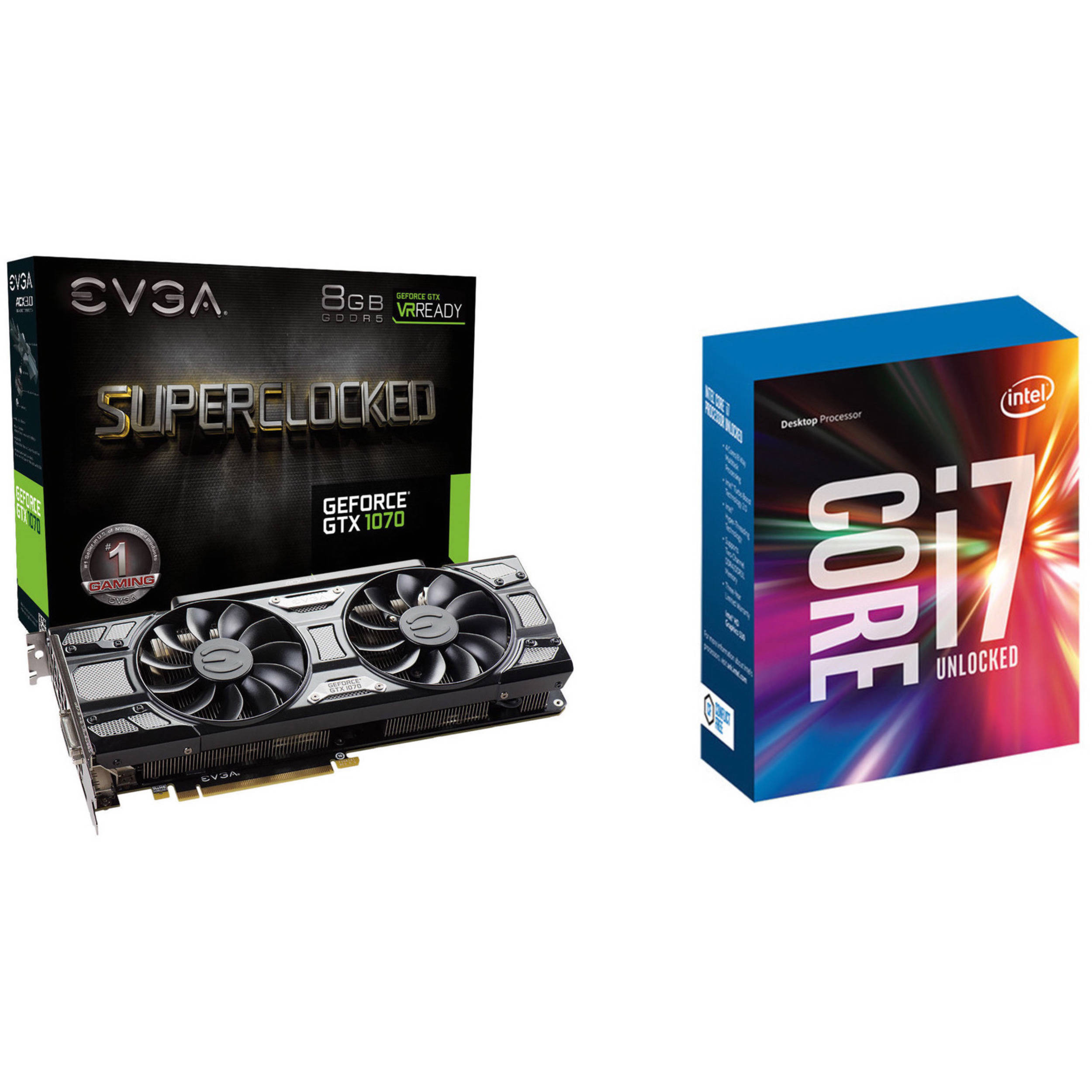 GeForce GTX 1070 SC GAMING Black Edition Graphics Card & Intel Core  i7-7700K 4 2 GHz Quad-Core LGA 1151 Processor Kit