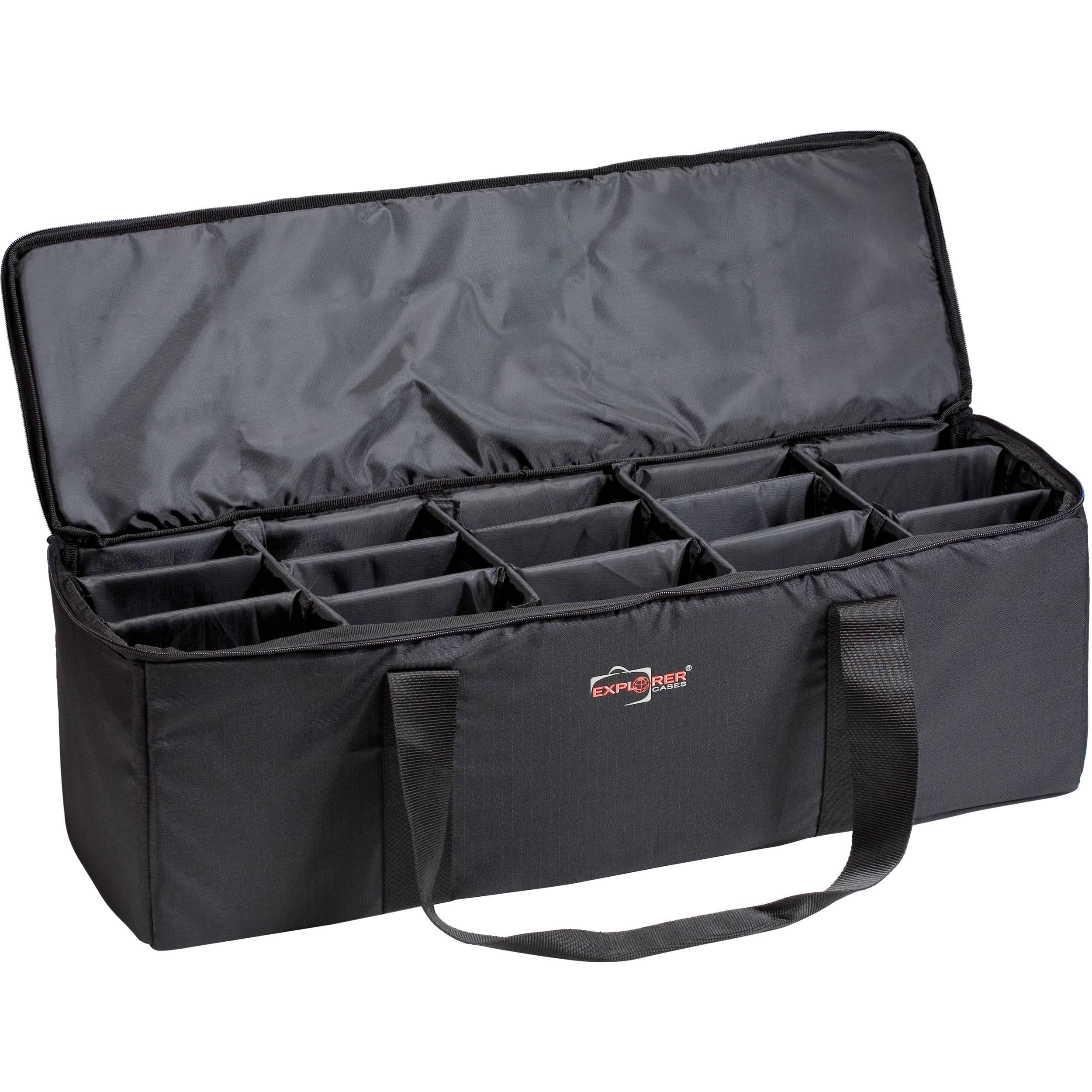 Explorer Cases Bag M Padded With Adjule Dividers Black