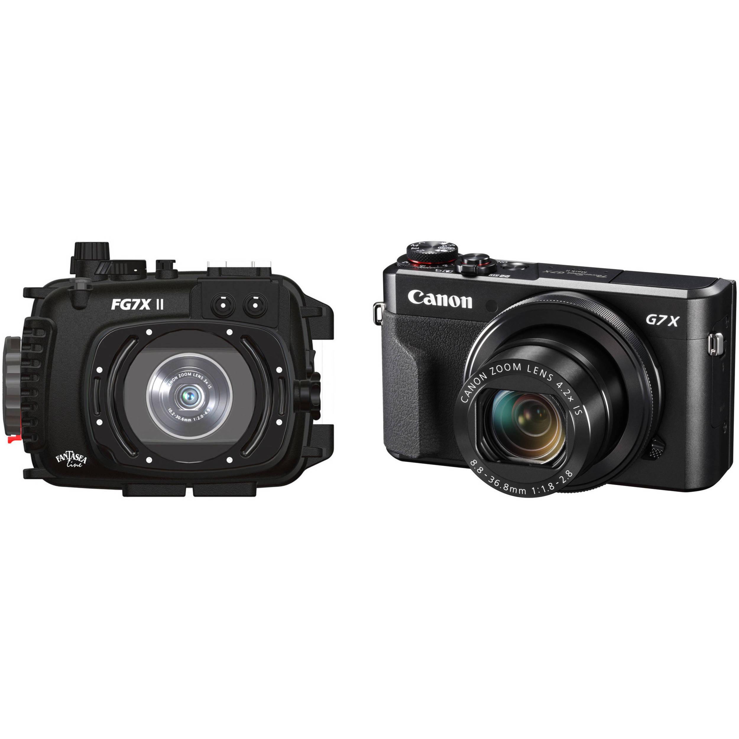 adf8023b6fdb Fantasea Line FG7X II Underwater Housing and Canon PowerShot G7 X Mark II  Camera Kit